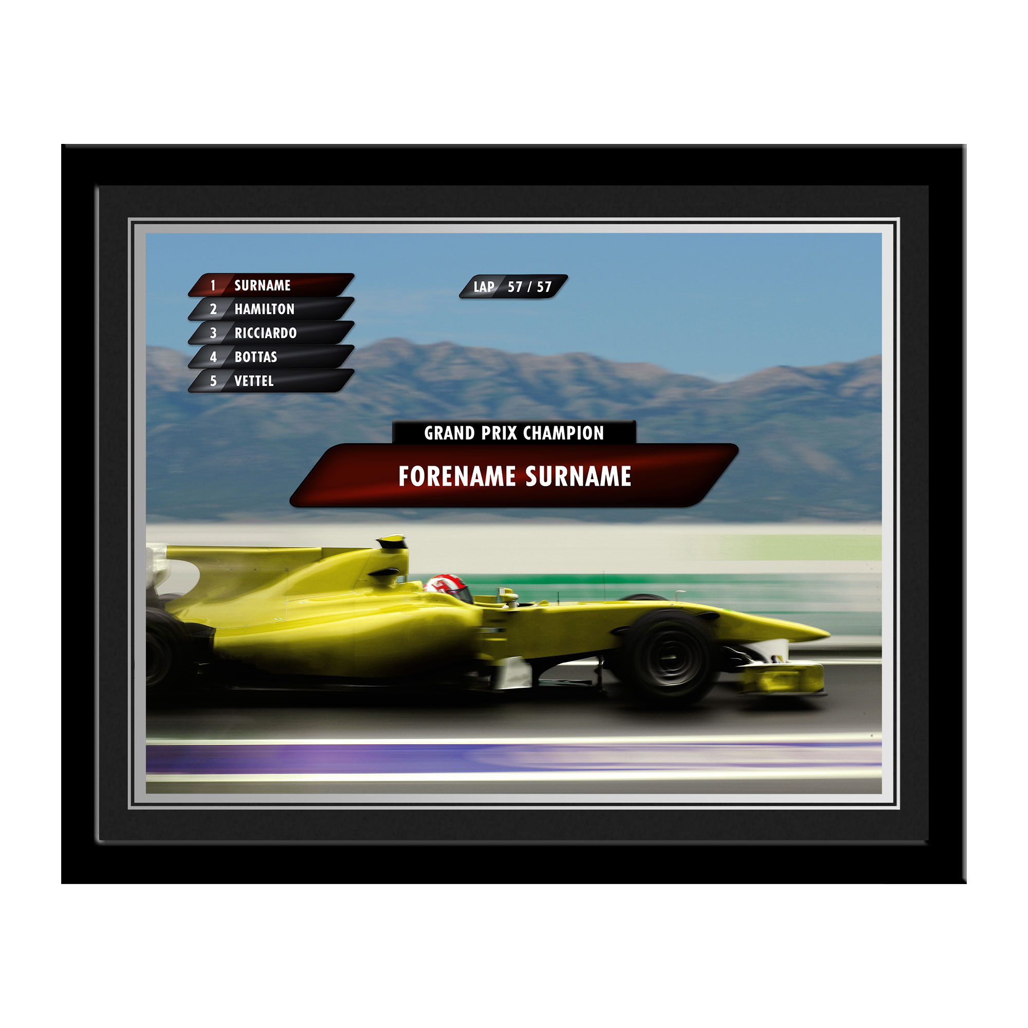 Personalised Grand Prix Photo Frame