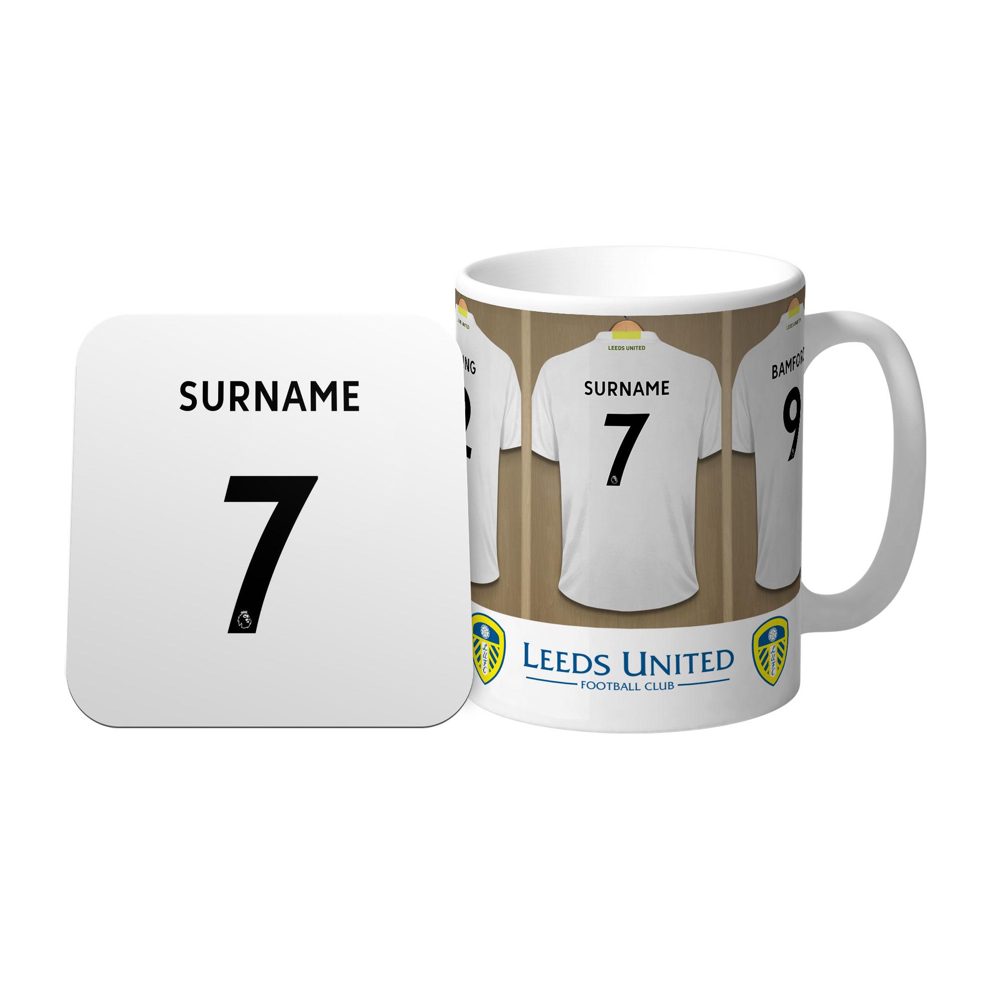 Leeds United FC Dressing Room Mug & Coaster Set