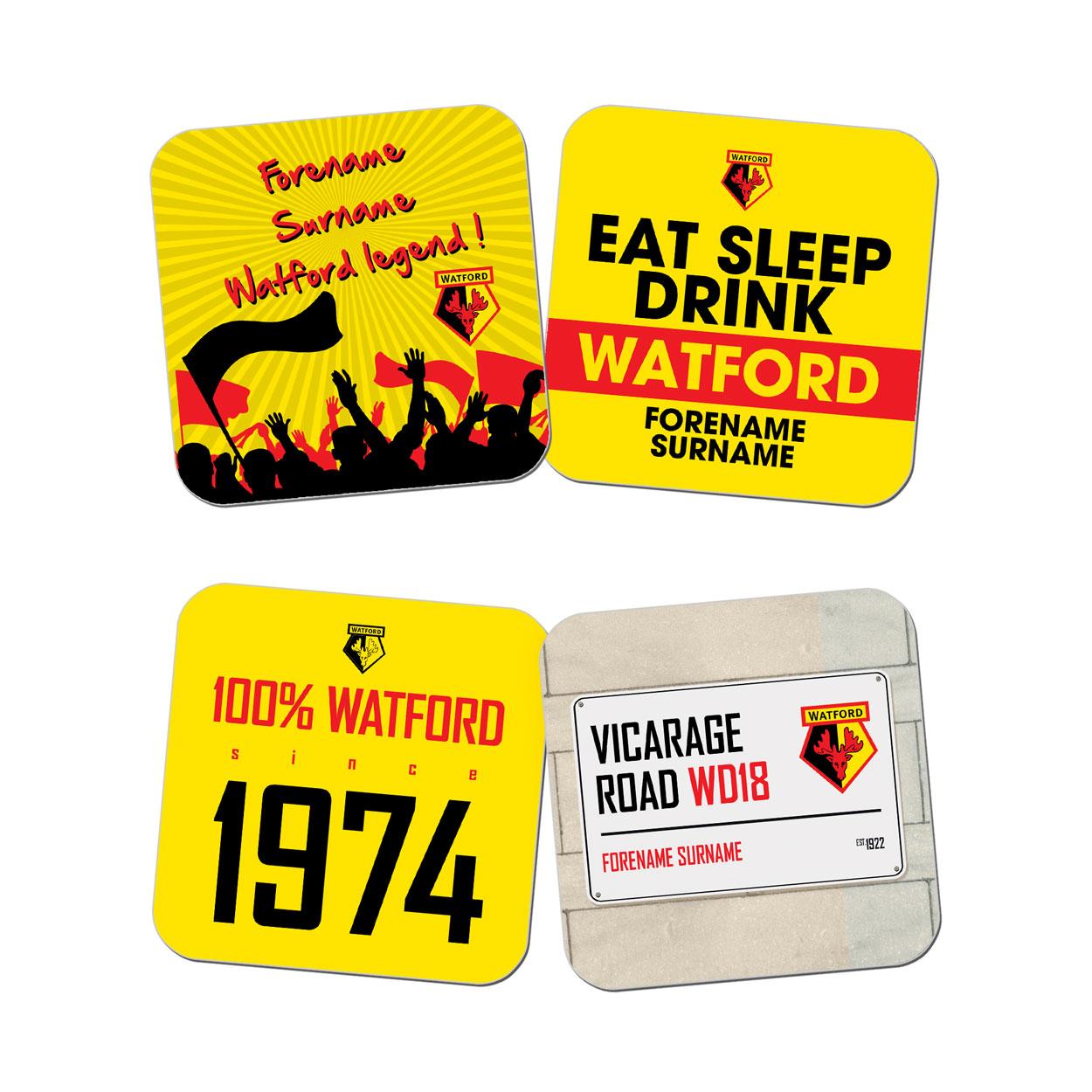 Watford FC Coasters