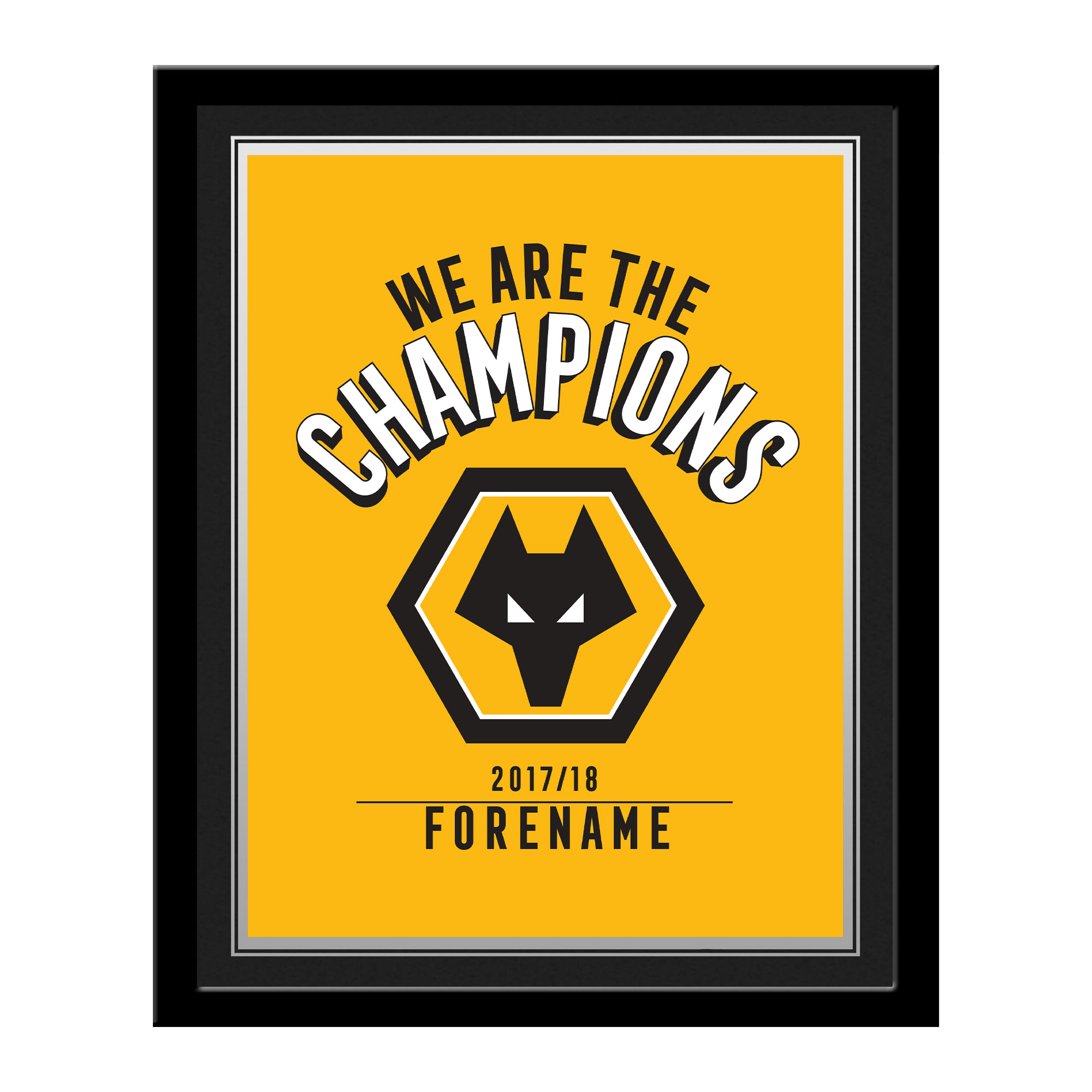 Wolves Champions Photo Framed