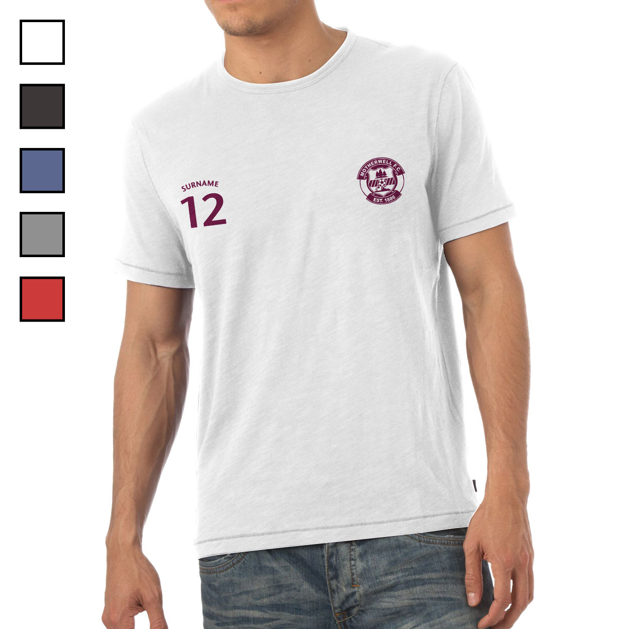 Motherwell FC Mens Sports T-Shirt