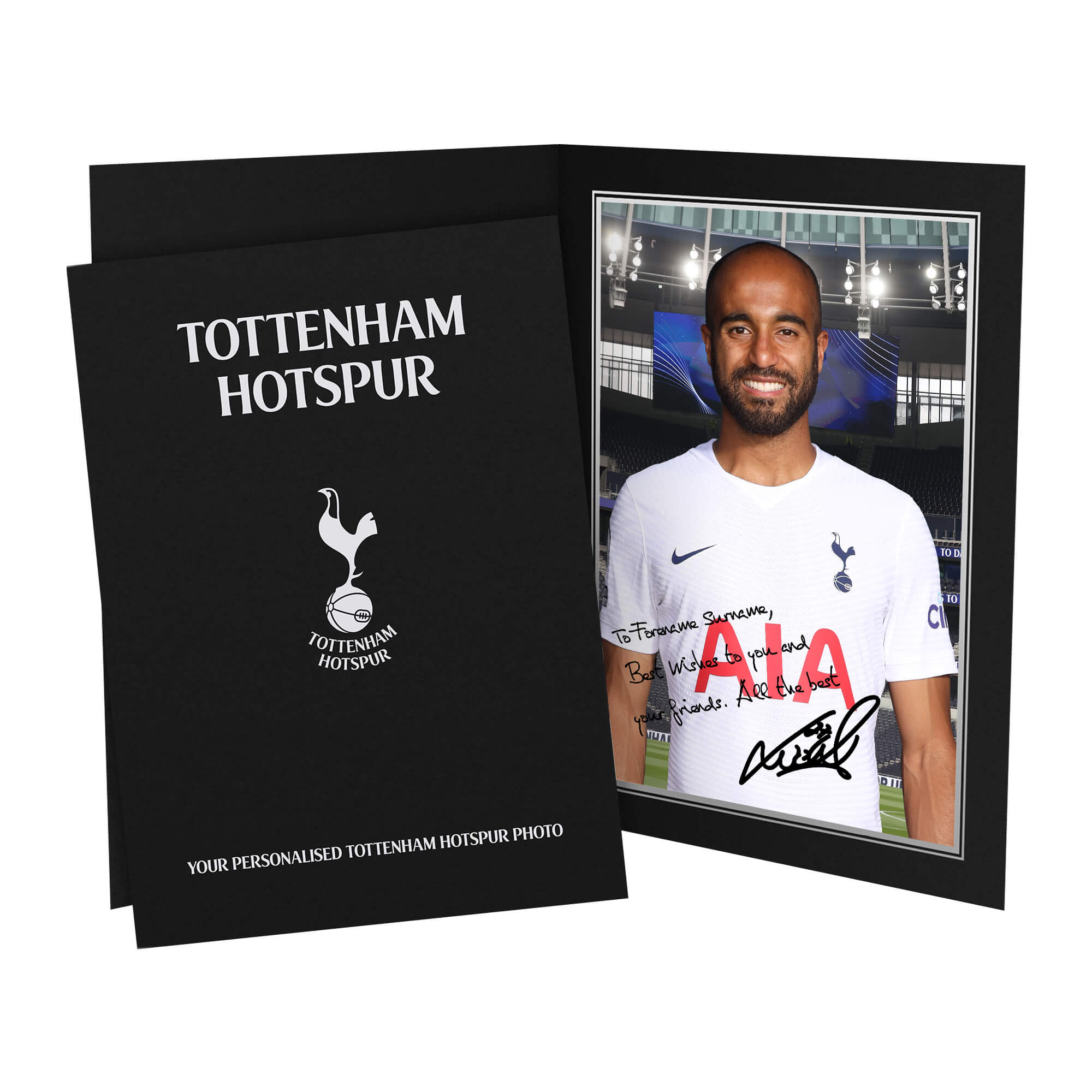 Tottenham Hotspur Moura Autograph Photo Folder