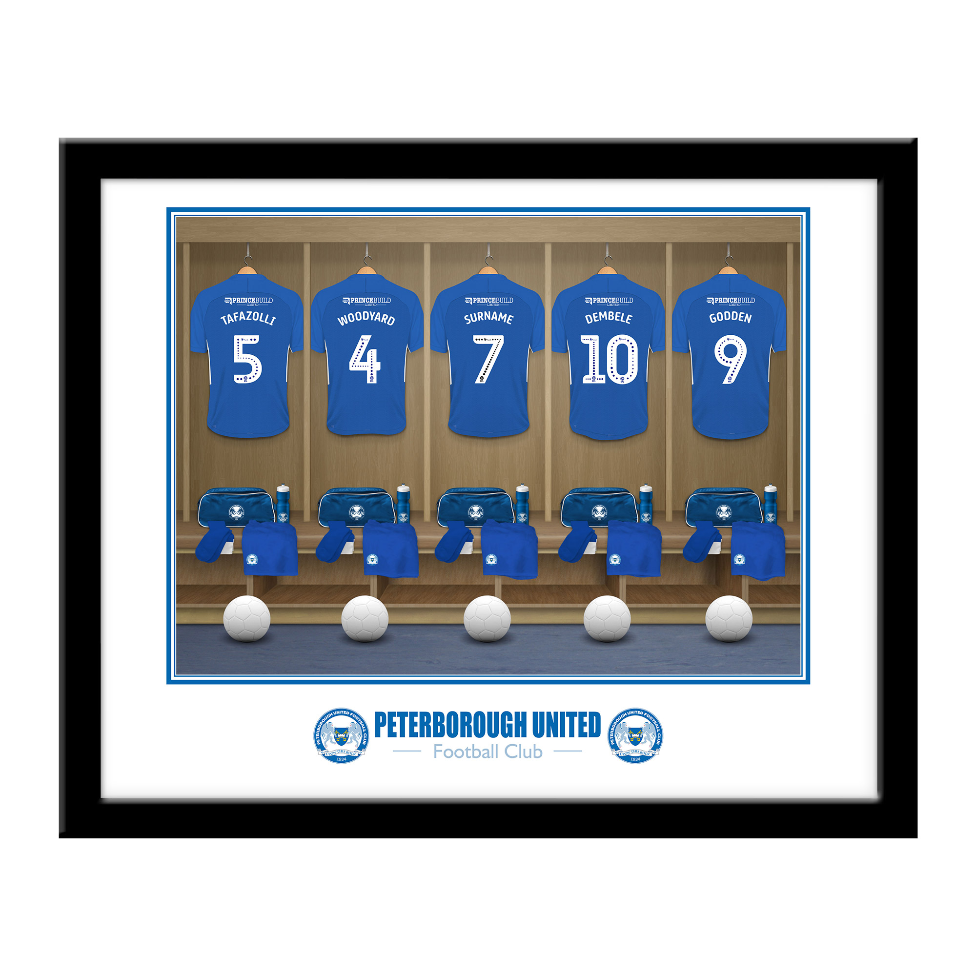 Peterborough United FC Dressing Room Framed Print