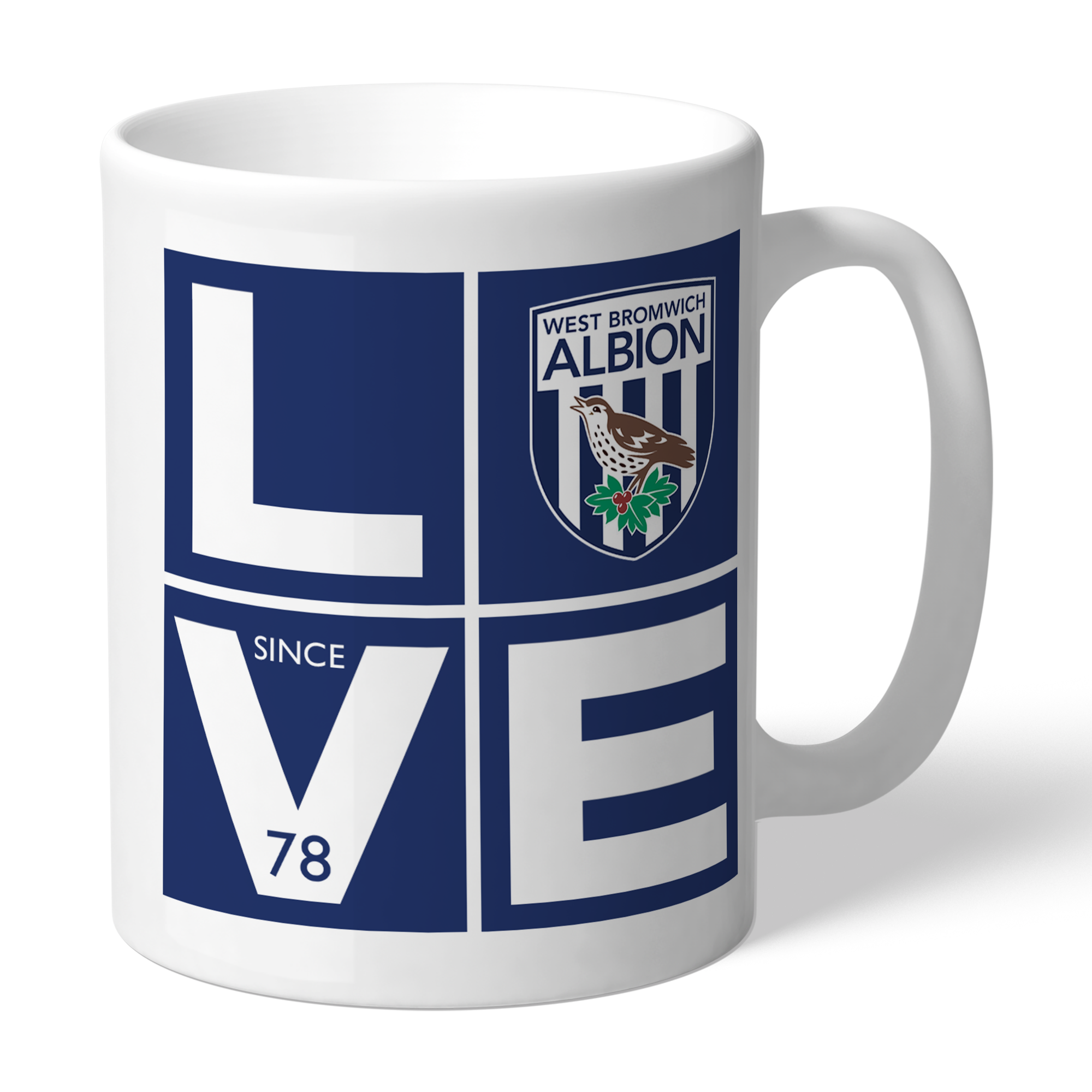 West Bromwich Albion FC Love Mug
