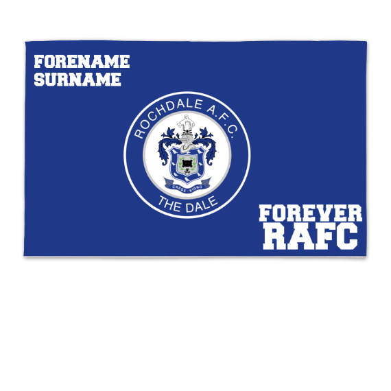 Rochdale AFC Forever 8ft x 5ft Banner