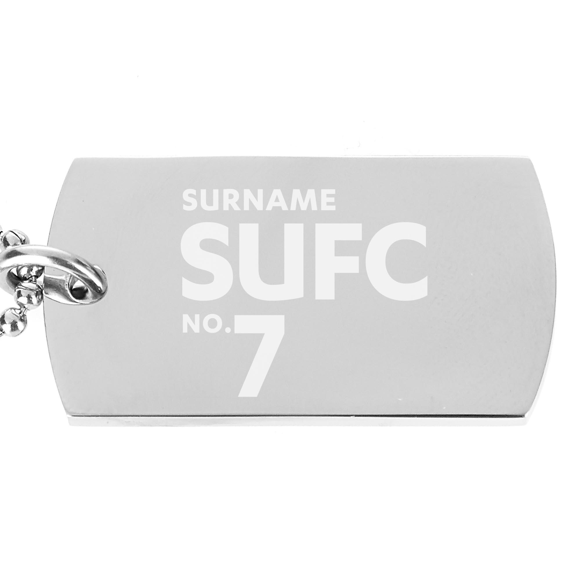 Sheffield United FC Number Dog Tag Pendant