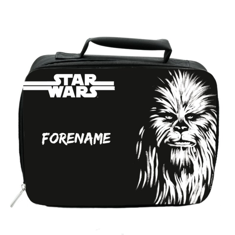 Star Wars Chewbacca Paint Insulated Lunch Bag - Black