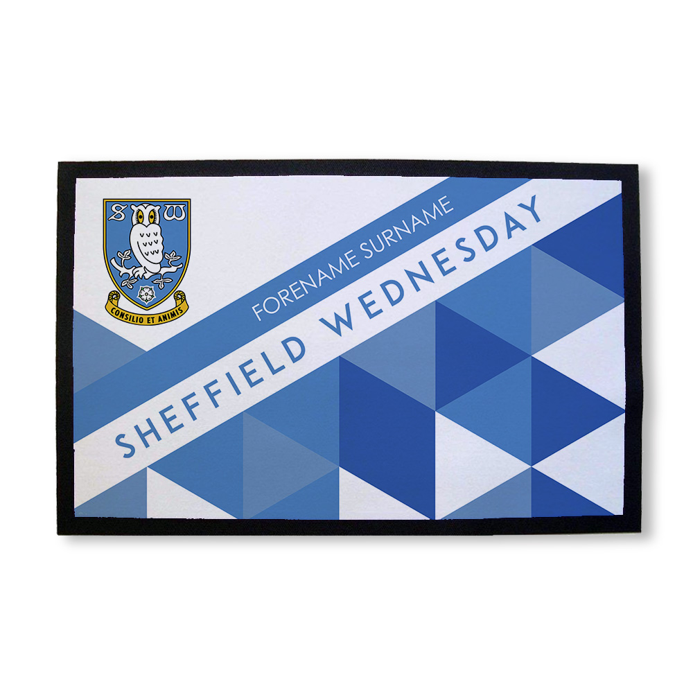 Sheffield Wednesday FC Patterned Door Mat