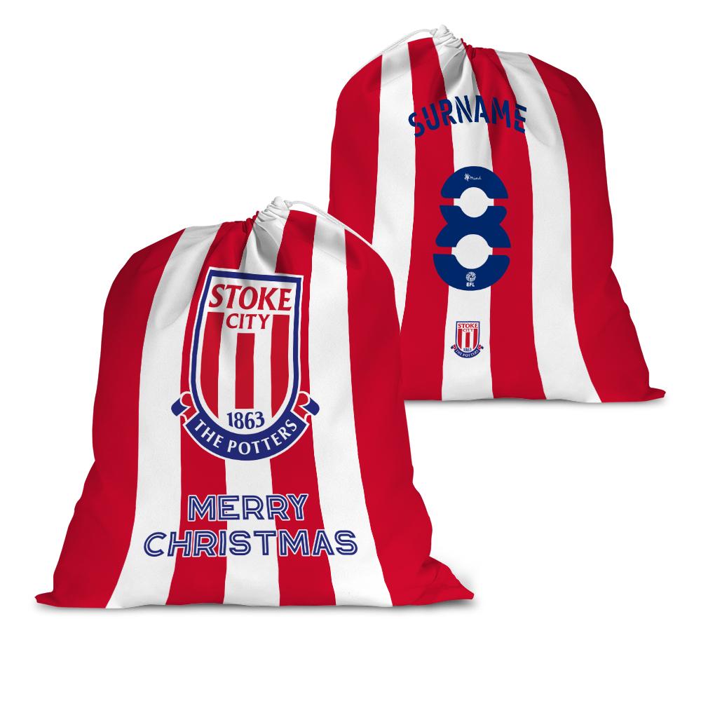 Stoke City FC Back of Shirt Santa Sack