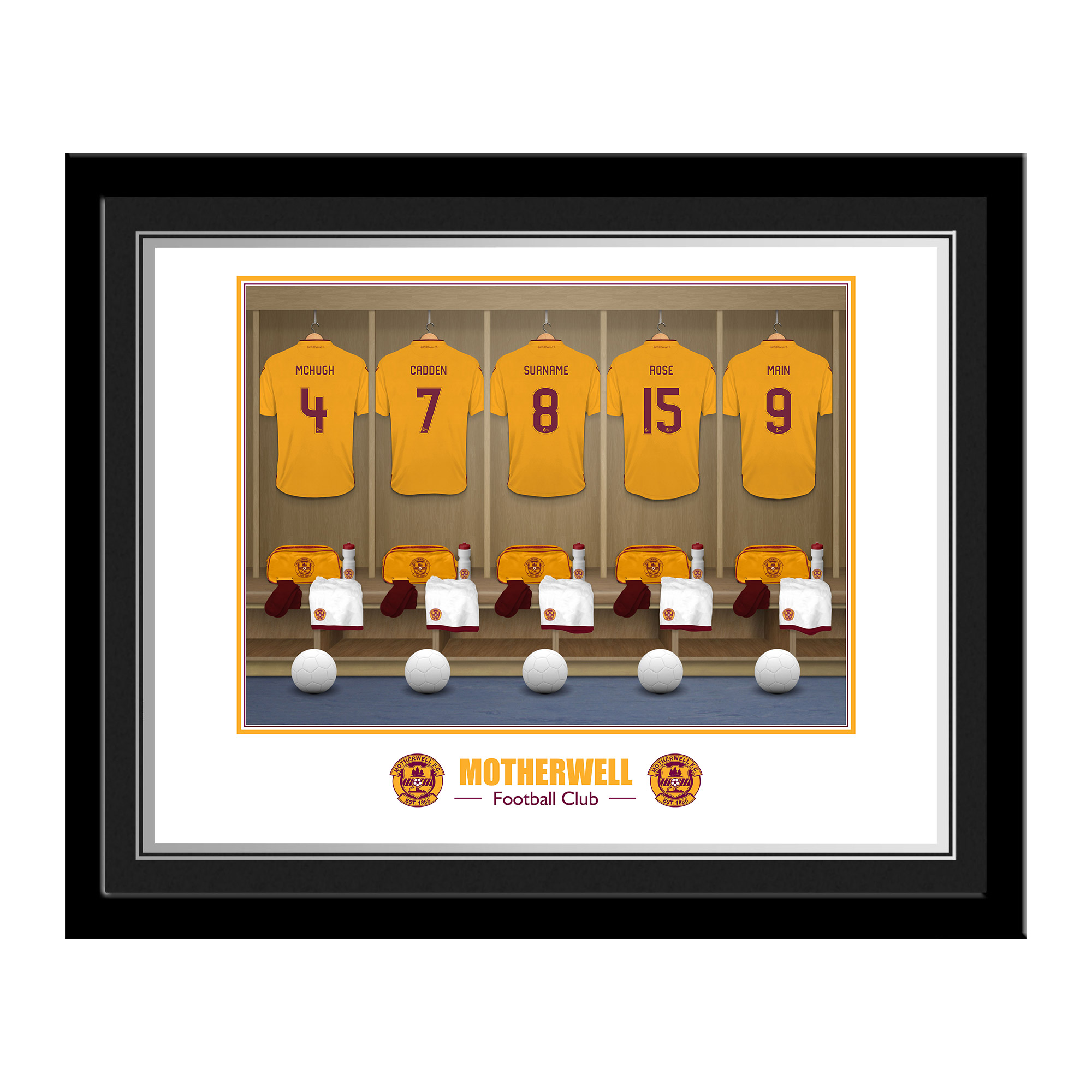 Motherwell FC Dressing Room Photo Framed