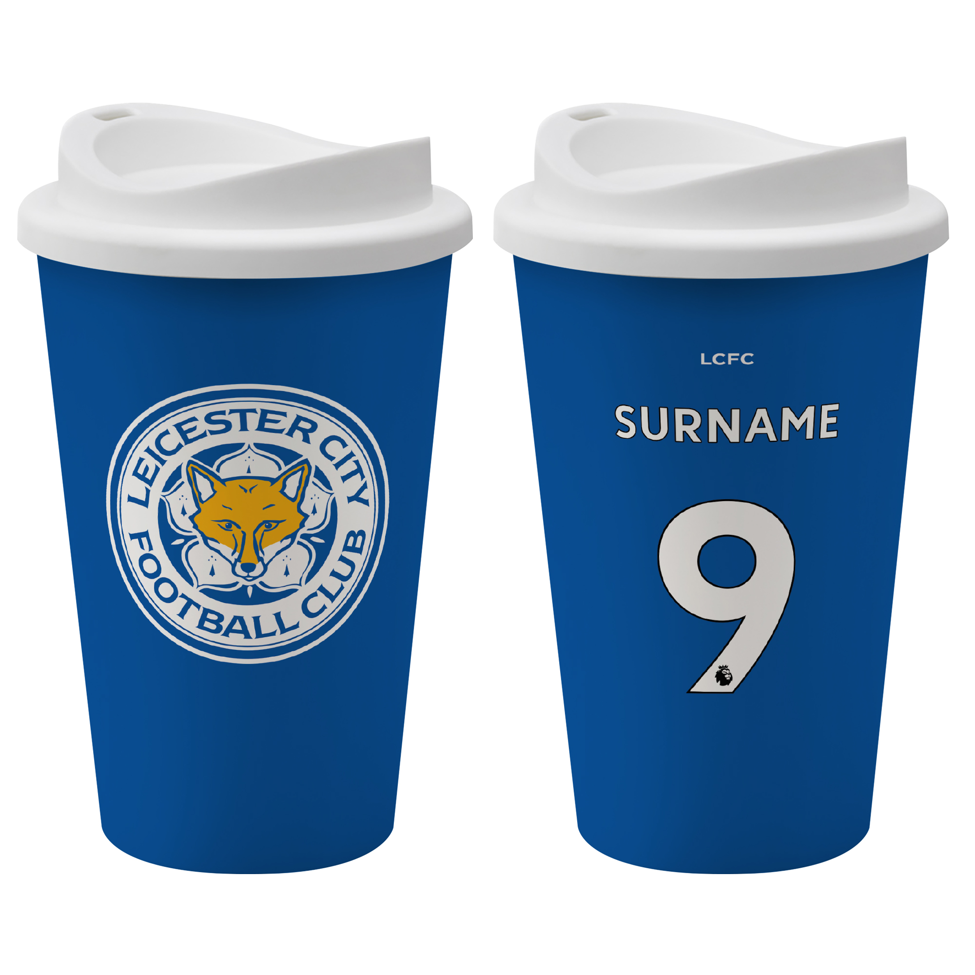 Leicester City FC Back of Shirt Reusable Cup