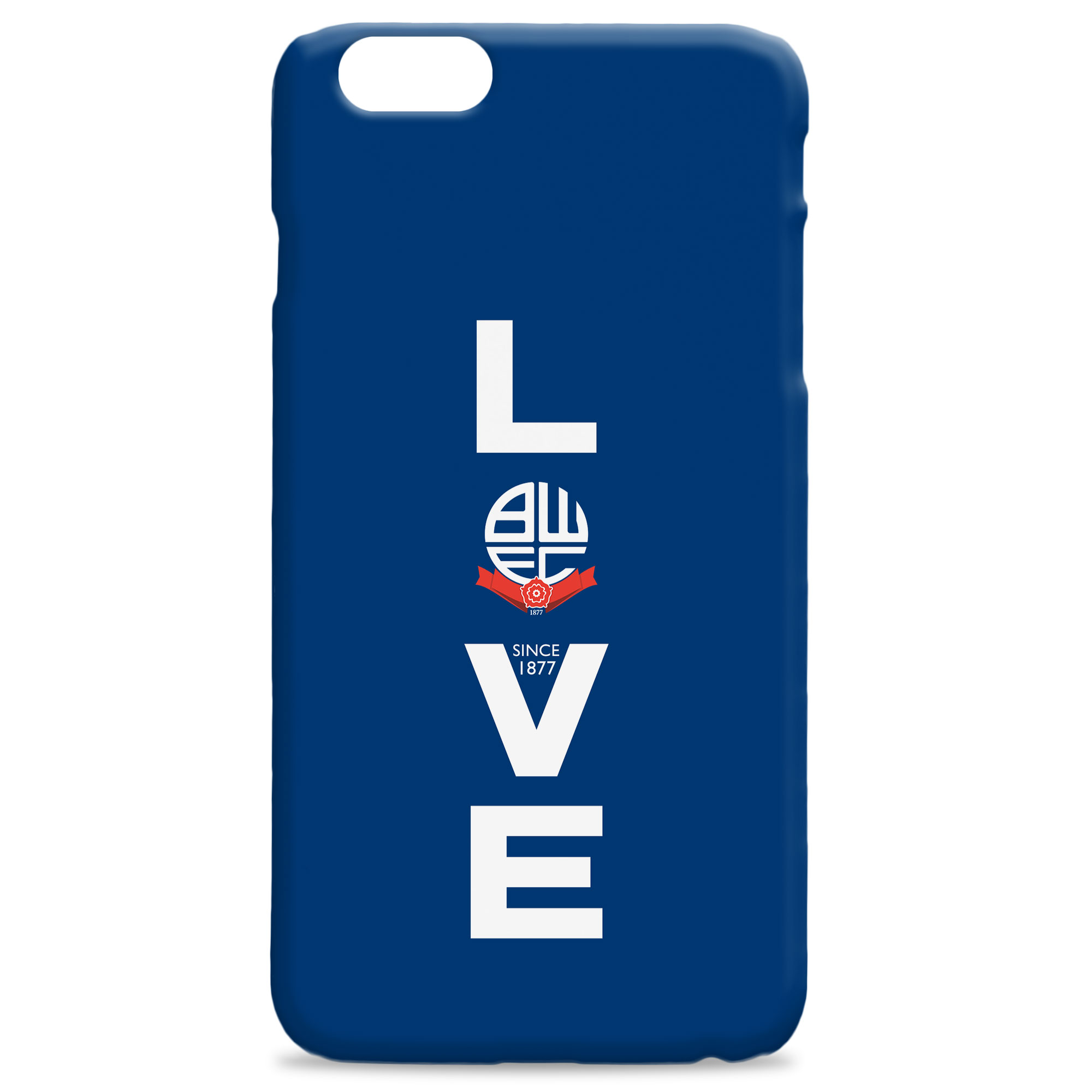 Bolton Wanderers Love Hard Back Phone Case