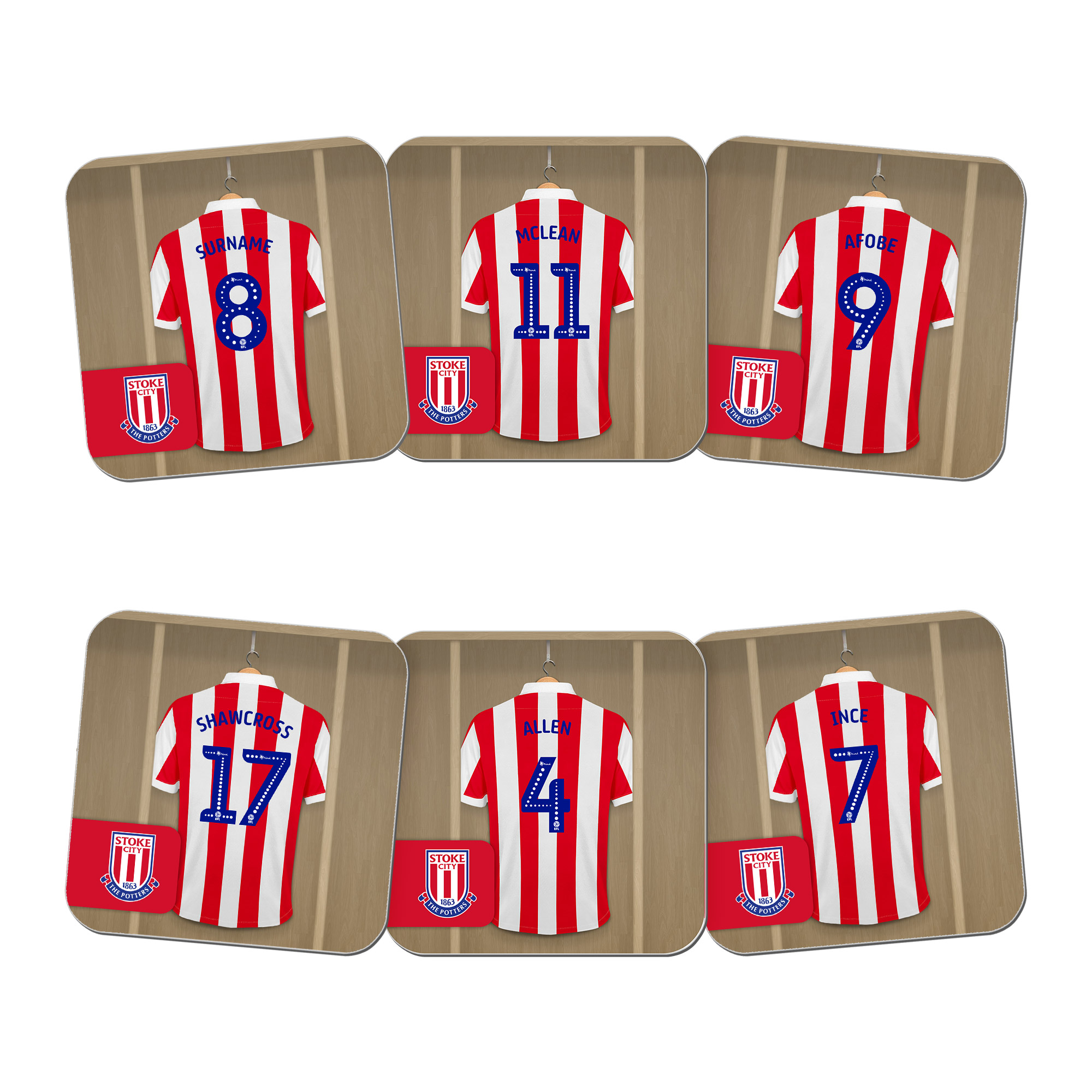 Stoke City FC Dressing Room Coasters