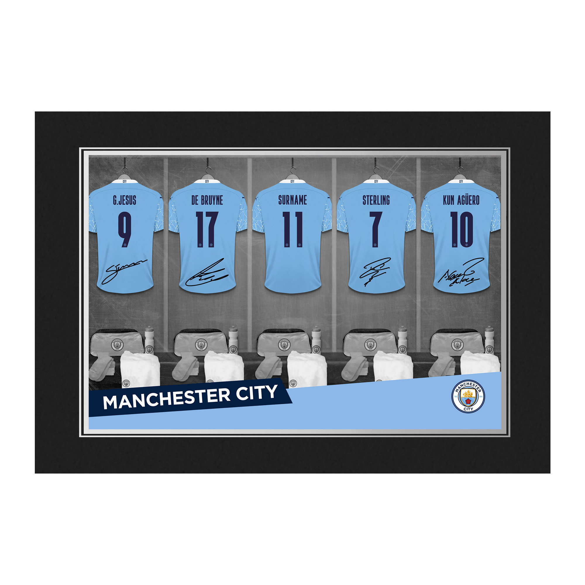 Manchester City FC 9x6 Dressing Room Photo Folder