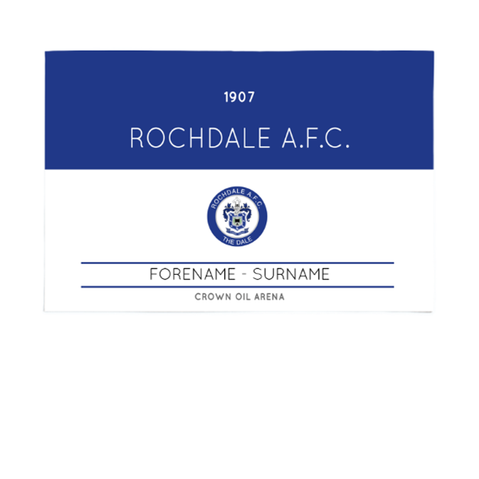 Rochdale AFC Minimal Ticket 6ft x 4ft Banner