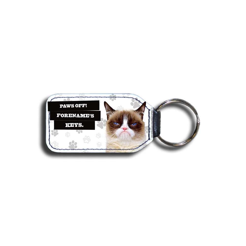 Grumpy Cat - Paws Off Grey Key Ring