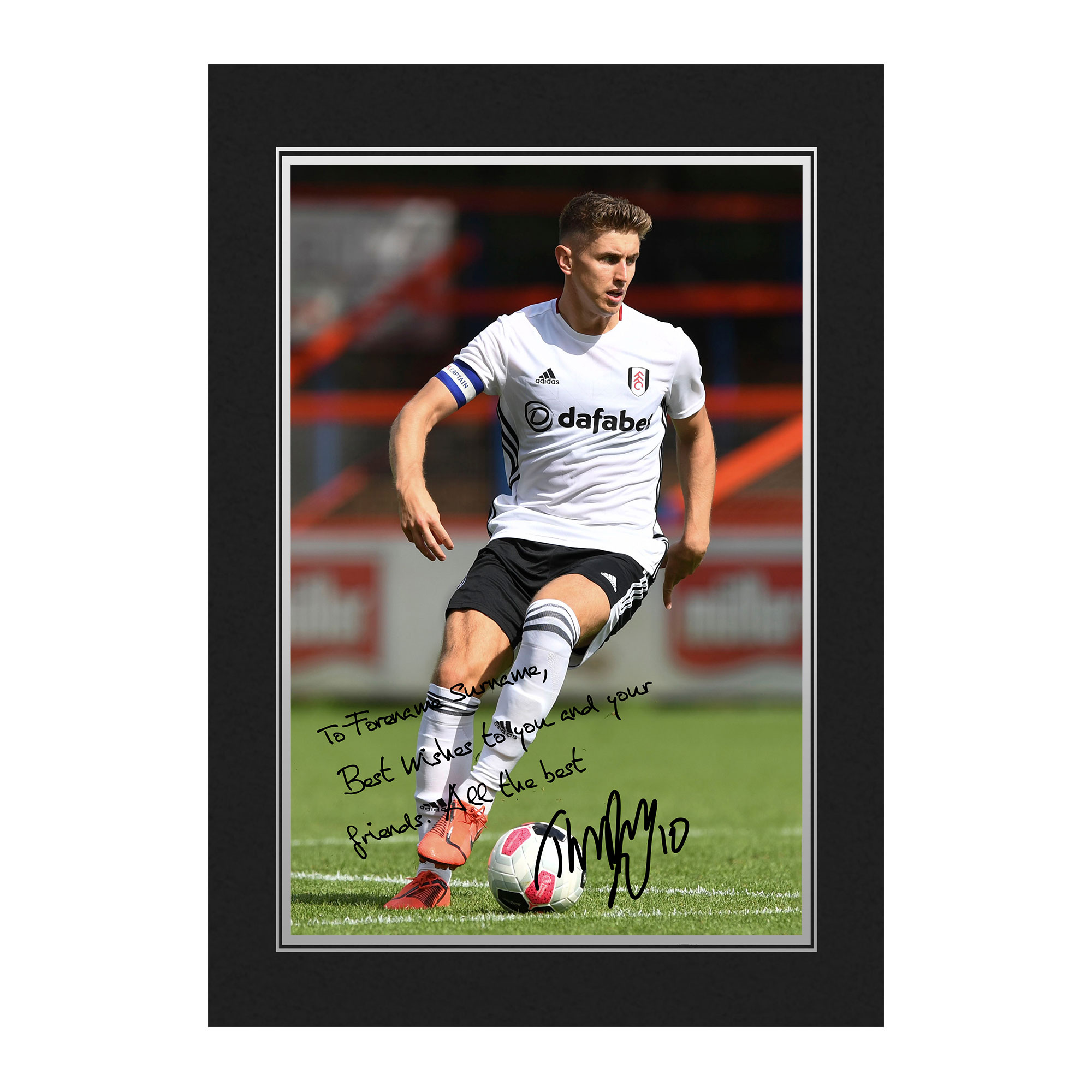 Fulham FC Cairney Autograph Photo Folder
