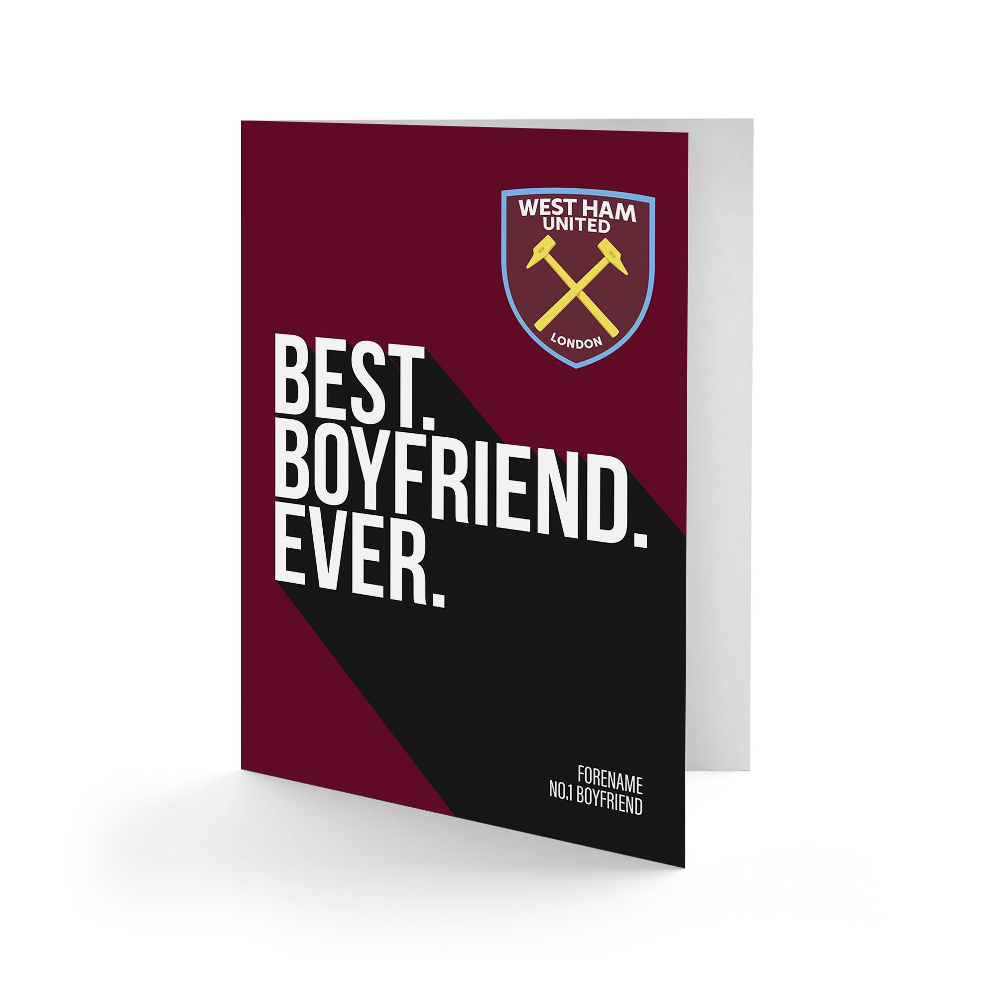 West Ham United FC Best Boyfriend Ever Card