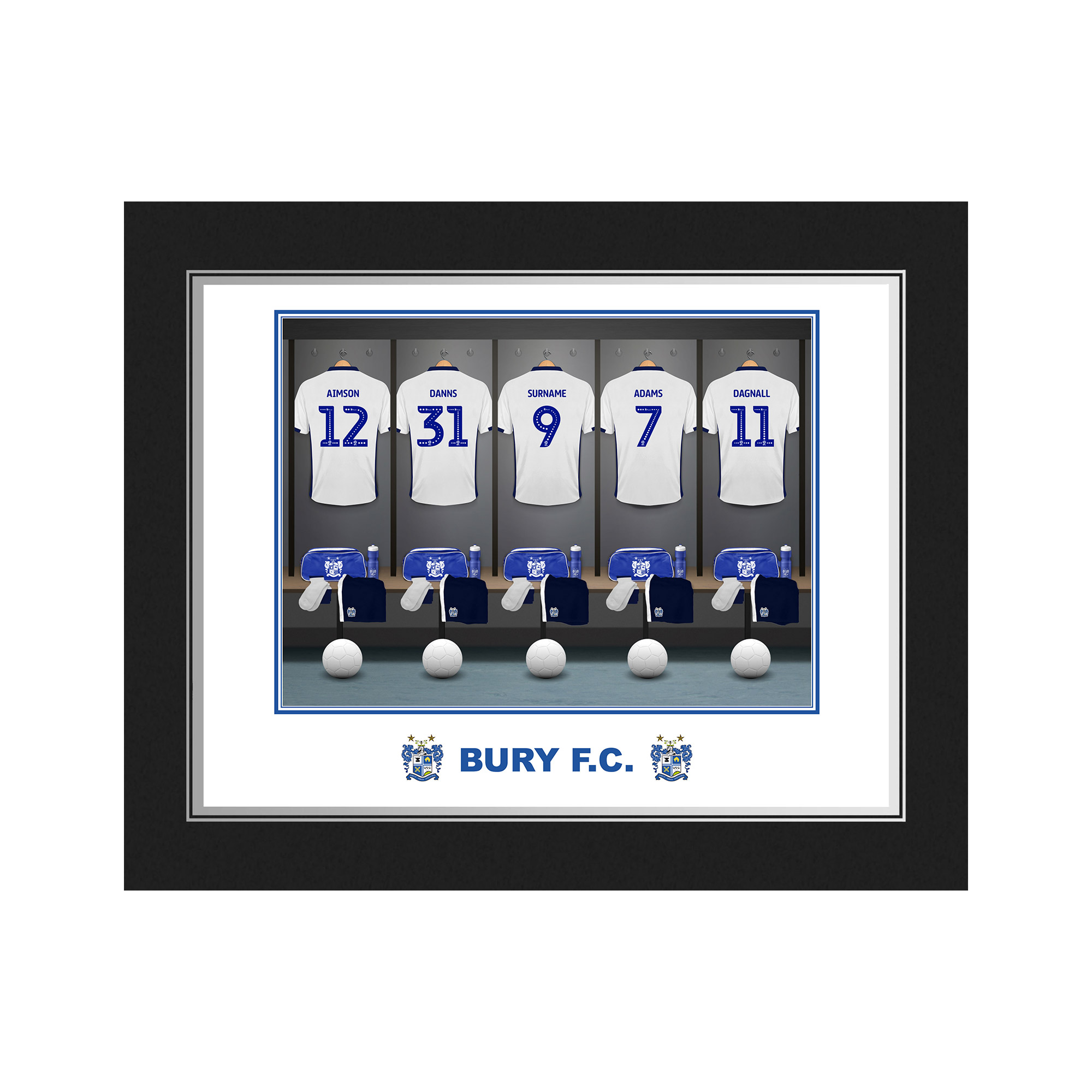 Bury FC Dressing Room Photo Folder