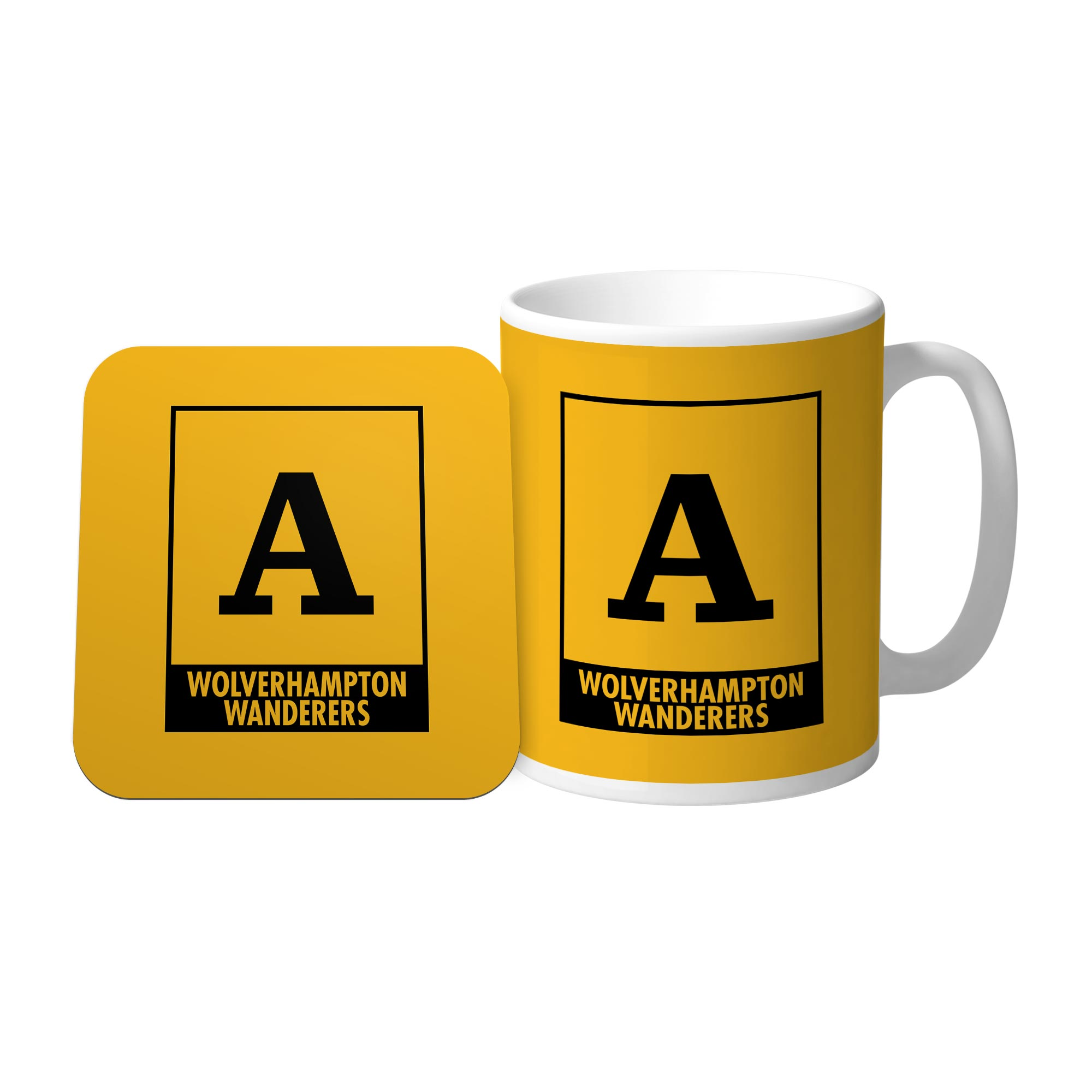 Wolves Monogram Mug & Coaster Set
