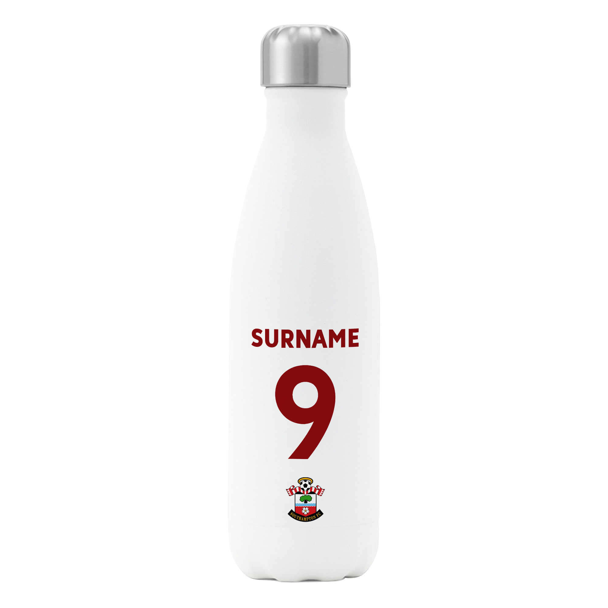 Southampton FC Back of Shirt Insulated Water Bottle - White