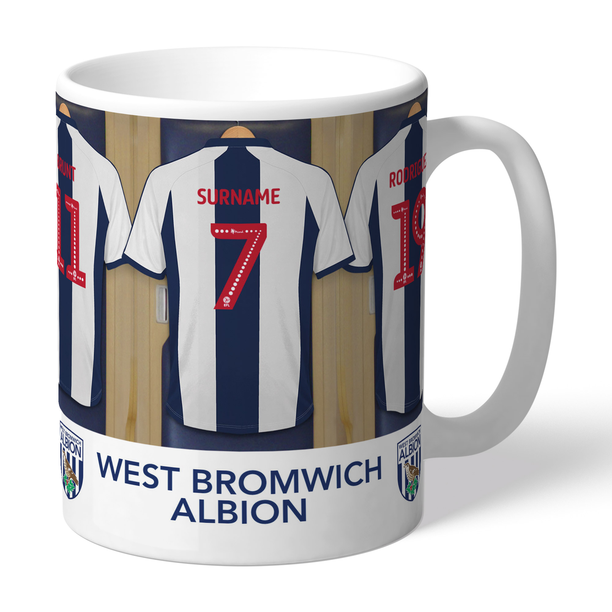 West Bromwich Albion FC Dressing Room Mug