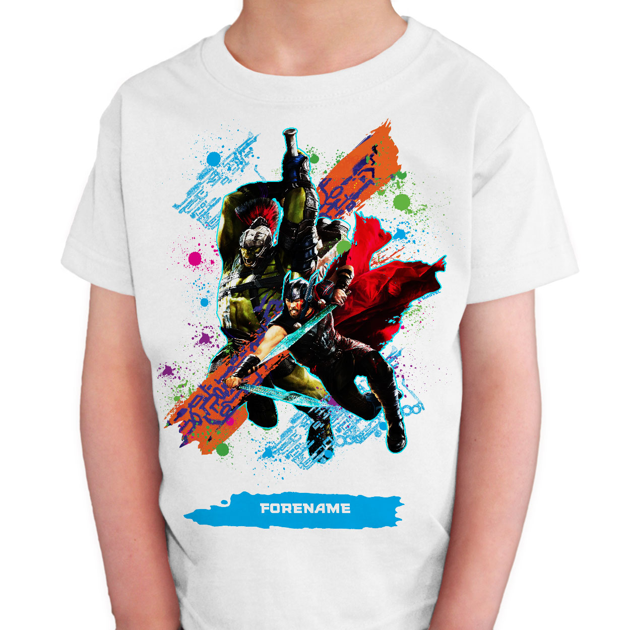 Marvel Thor Ragnarok Colour Splash Kids T-Shirt