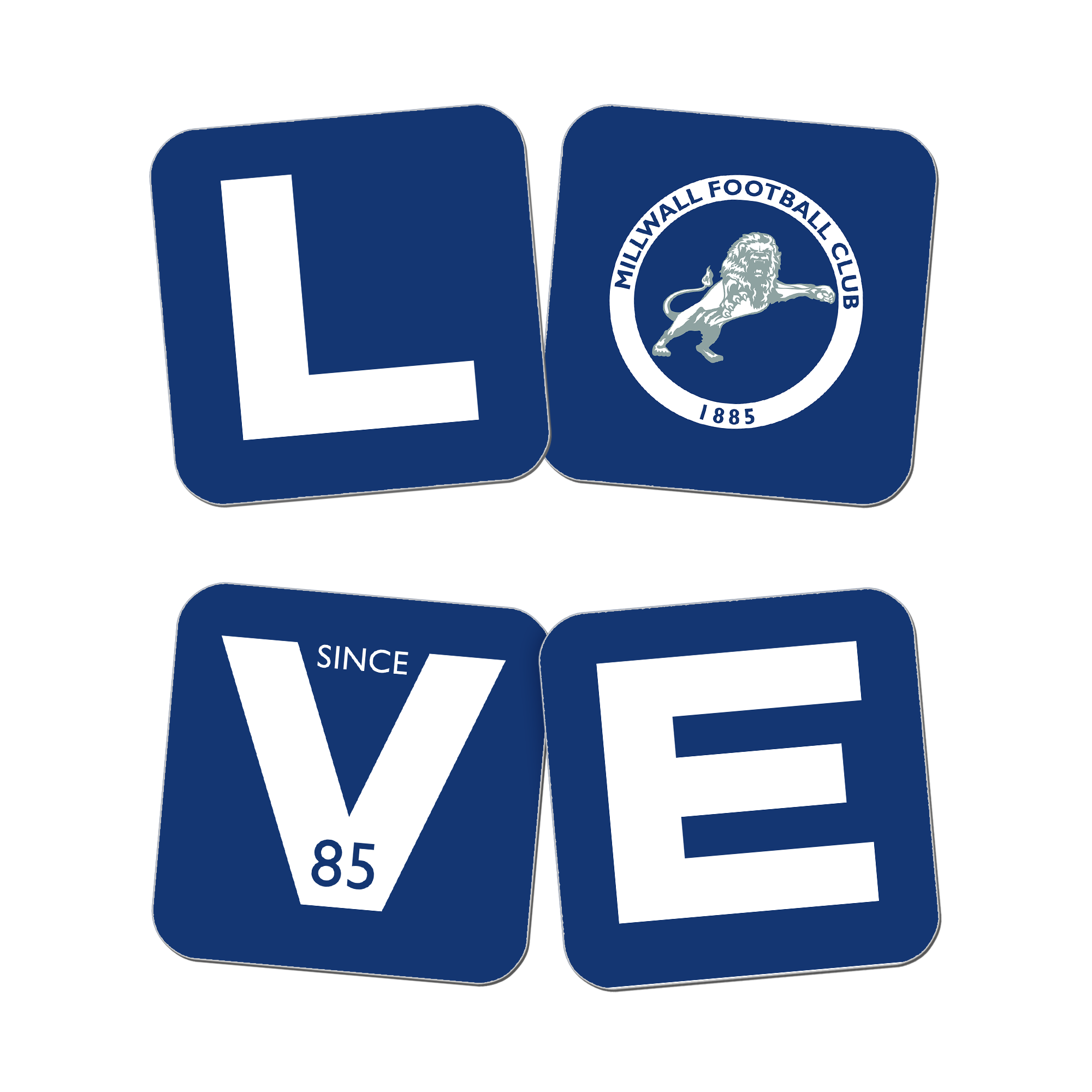 Millwall Love Coasters (x4)