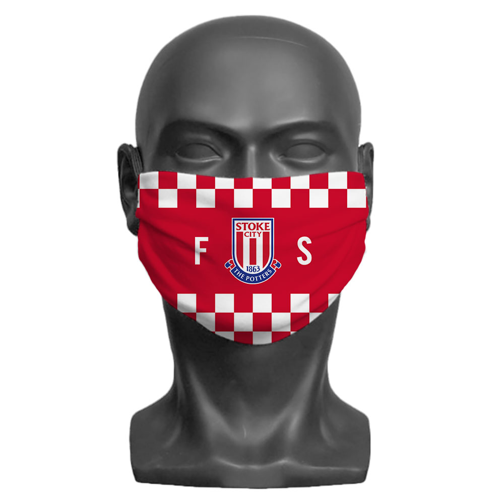 Stoke City FC Initials Adult Face Mask (Large)