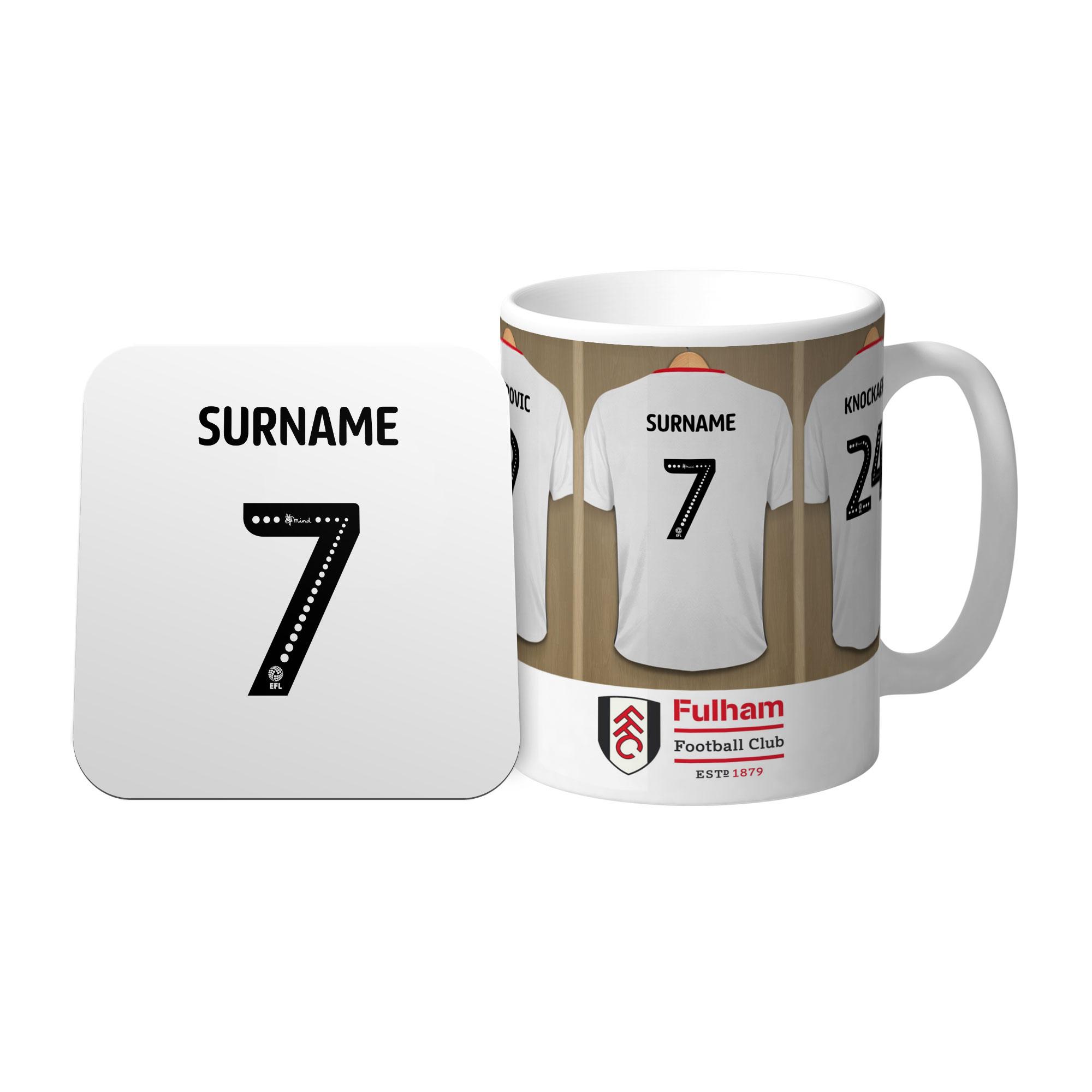 Fulham FC Dressing Room Mug & Coaster Set