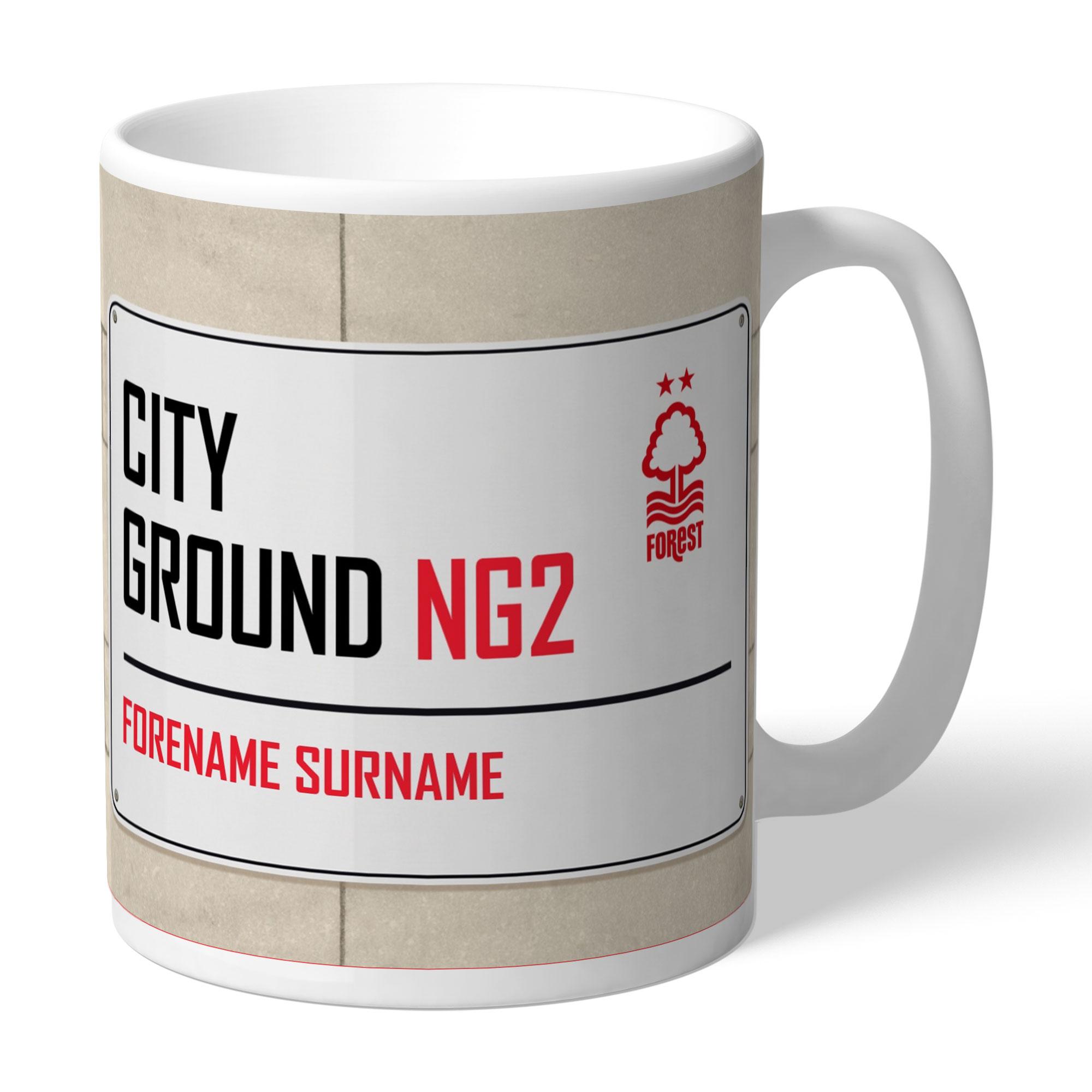 Nottingham Forest FC Street Sign Mug