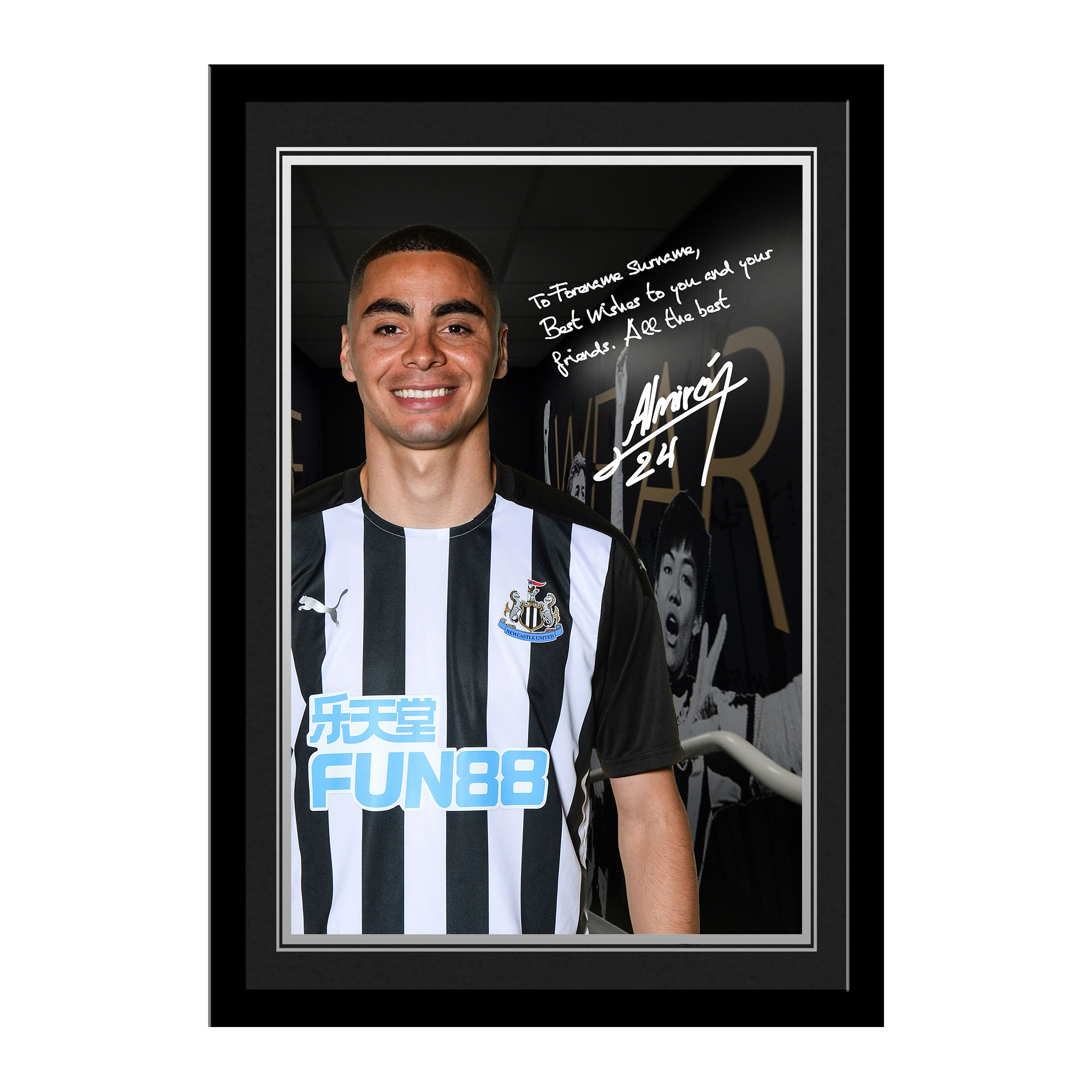 Newcastle United FC Almiron Autograph Photo Framed