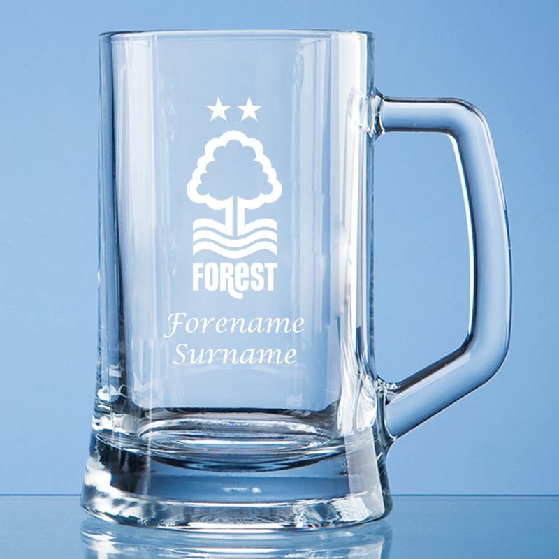Nottingham Forest FC Crest Small Plain Straight Sided Tankard