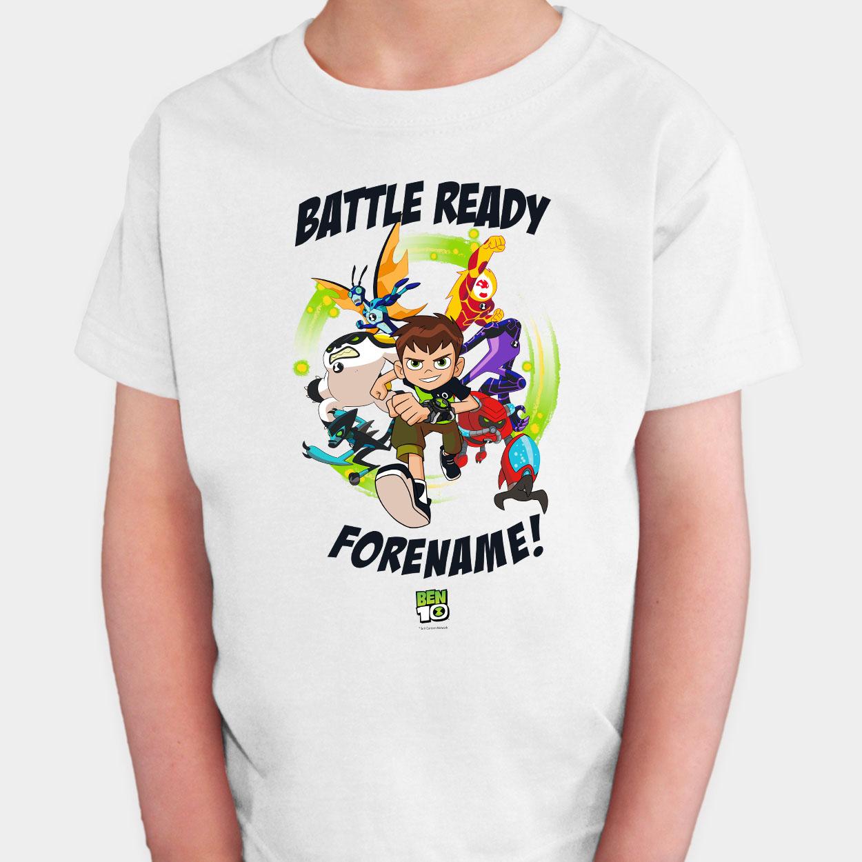 Ben 10 Battle Ready Two Kids T Shirt
