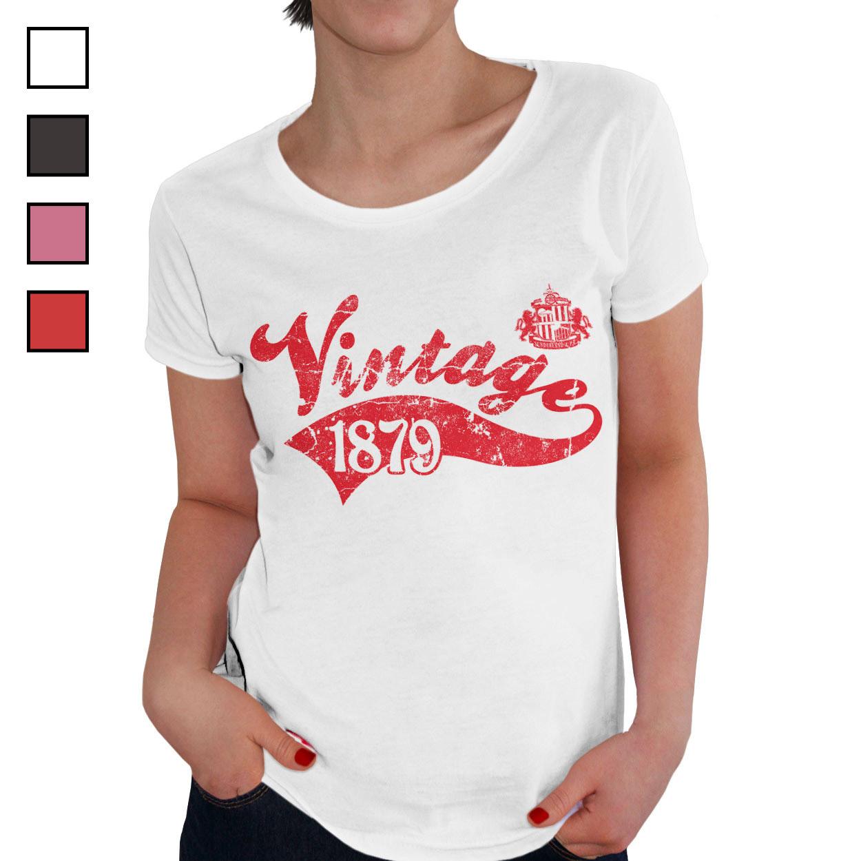Sunderland AFC Ladies Vintage T-Shirt