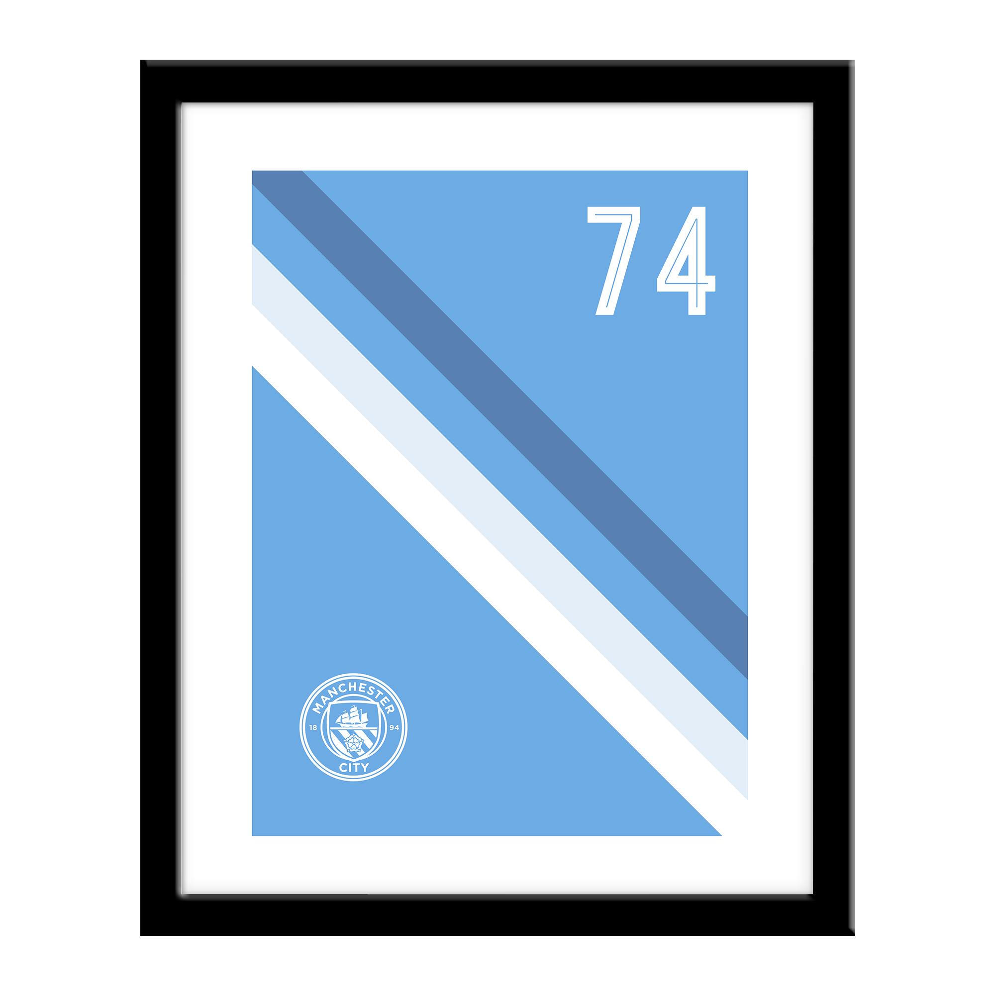 Manchester City FC Stripe Print