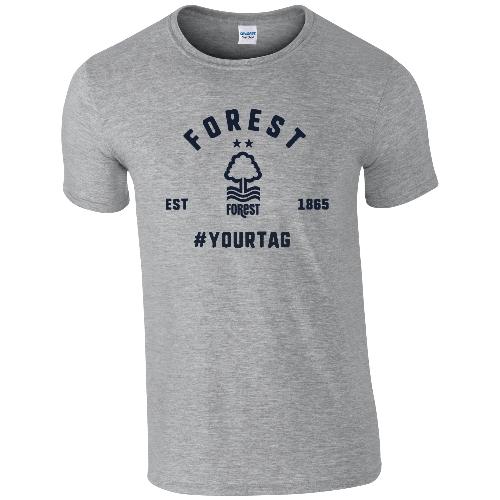 Nottingham Forest FC Vintage Hashtag T-Shirt