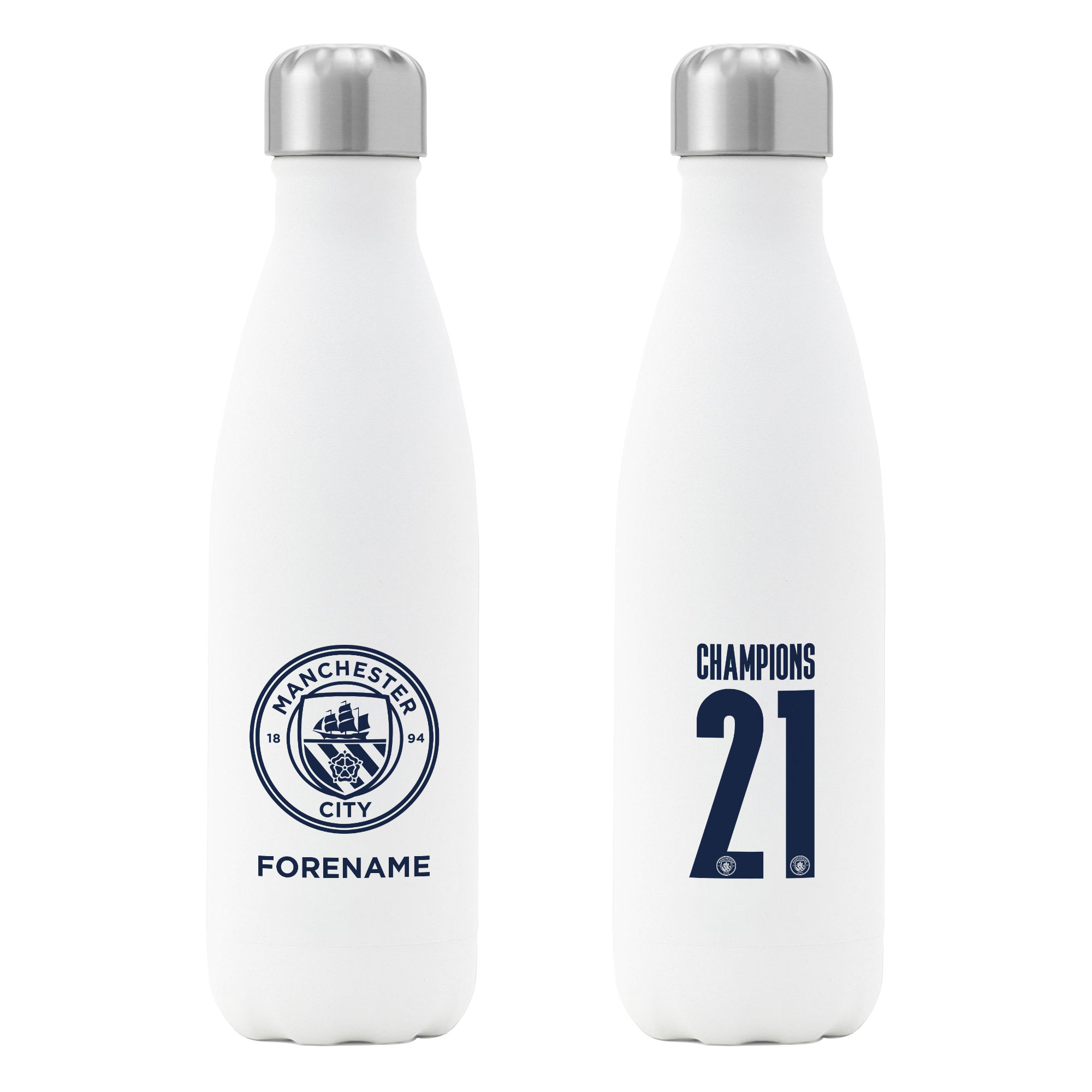 Manchester City FC Premier League Champions 2021 Insulated Water Bottle