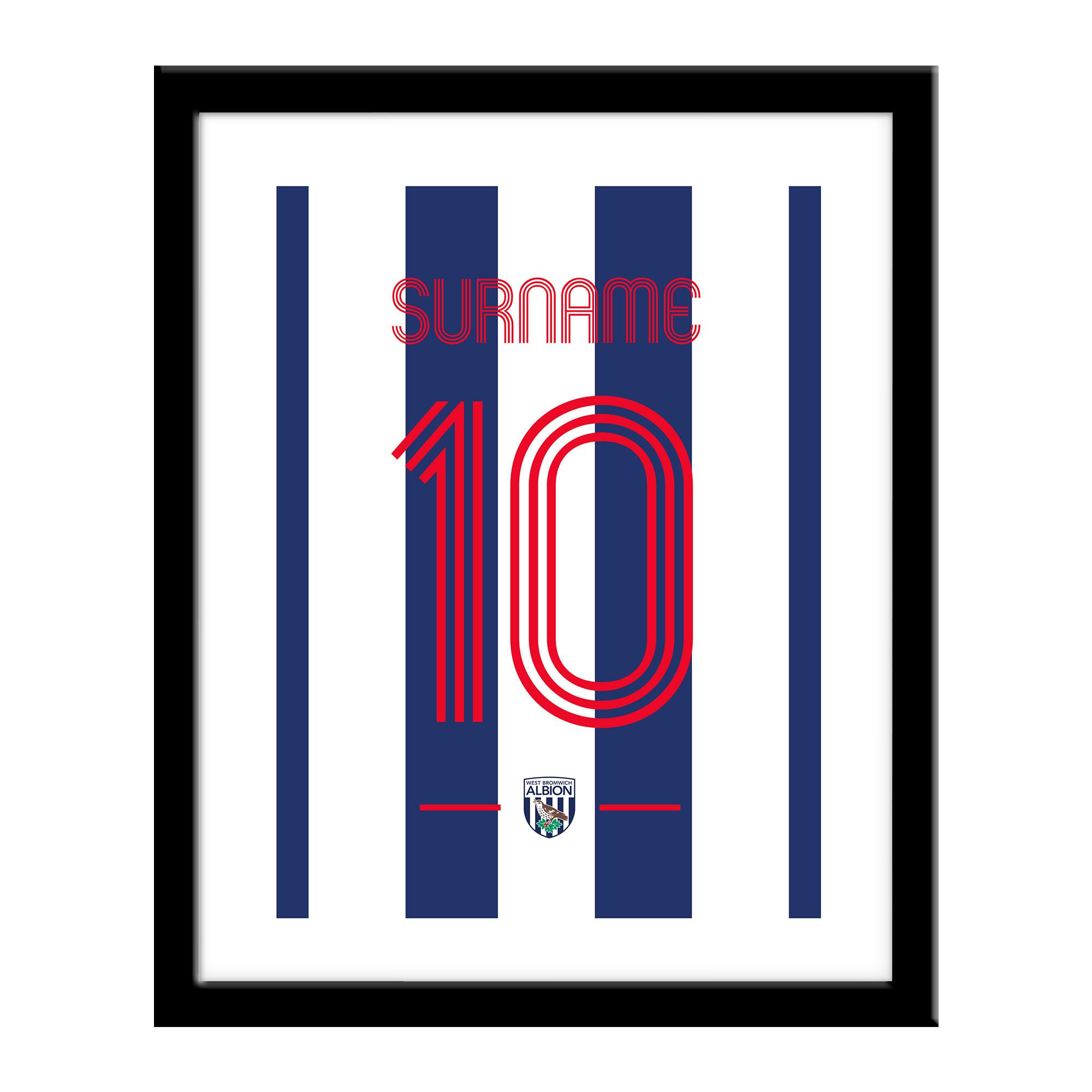 West Bromwich Albion FC Retro Shirt Print