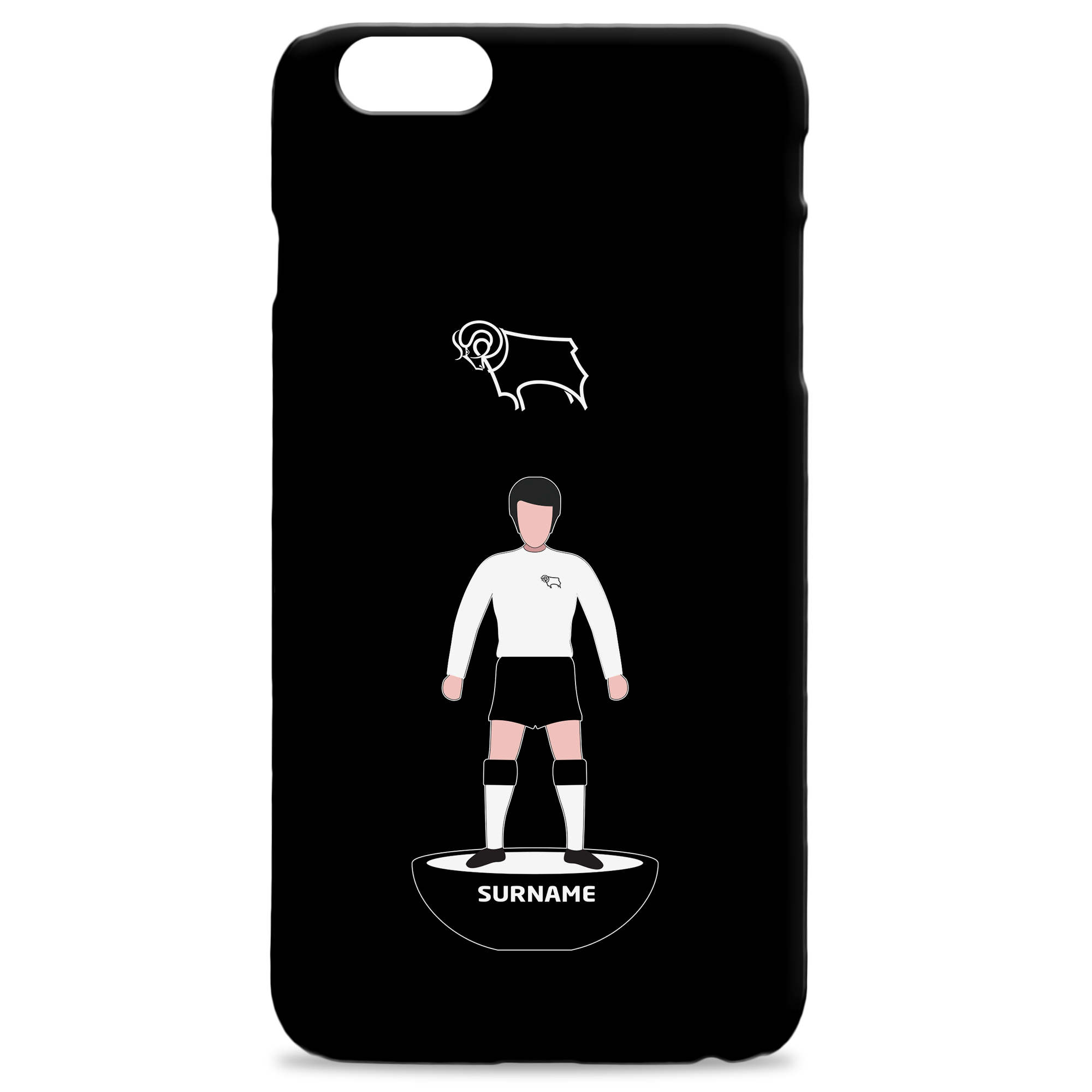 Derby County Player Figure Hard Back Phone Case