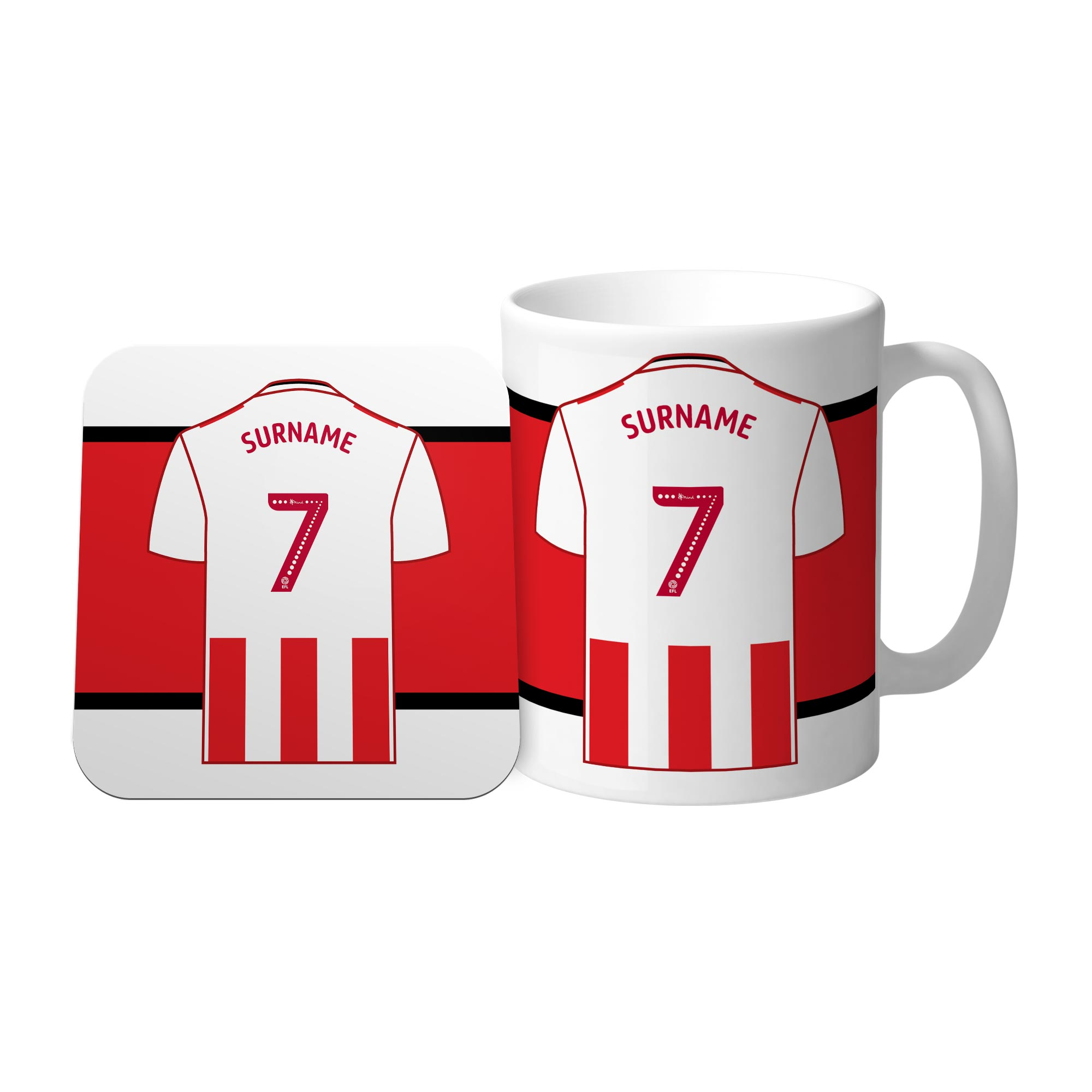 Sunderland AFC Shirt Mug & Coaster Set