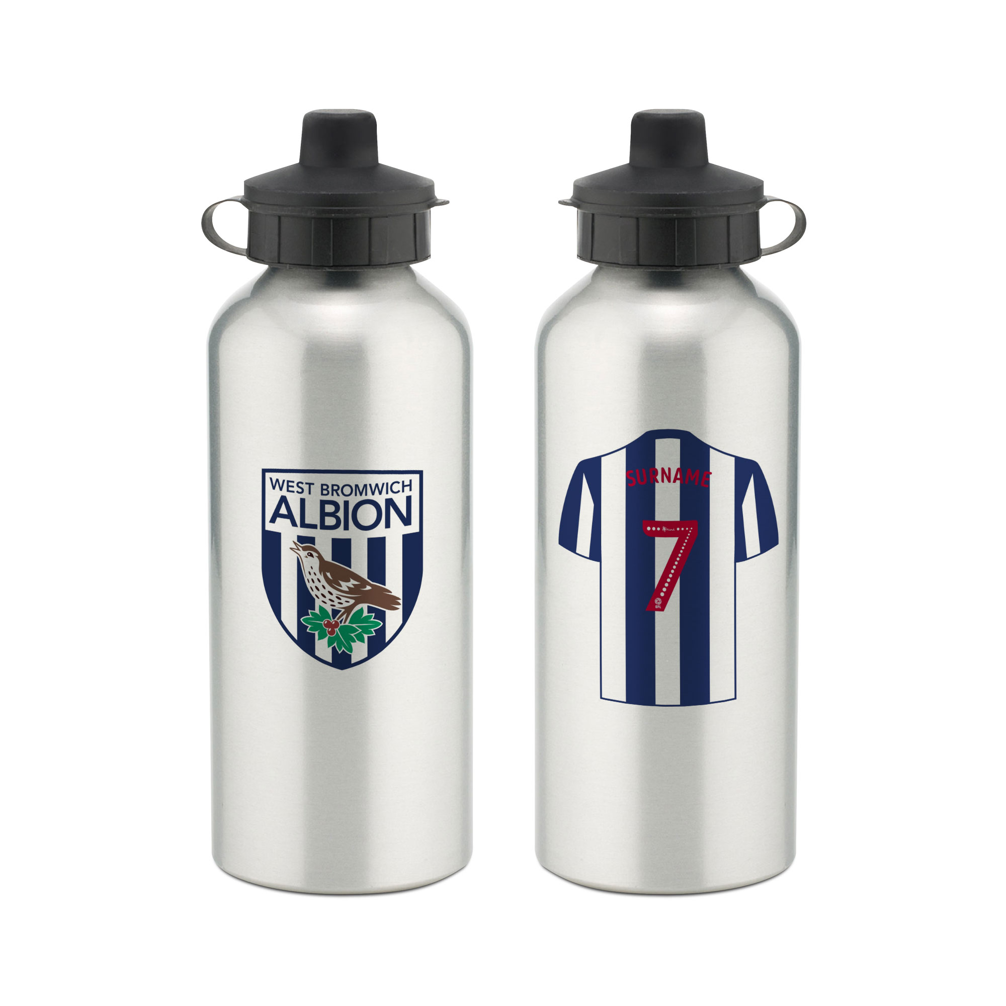 West Bromwich Albion FC Aluminium Water Bottle