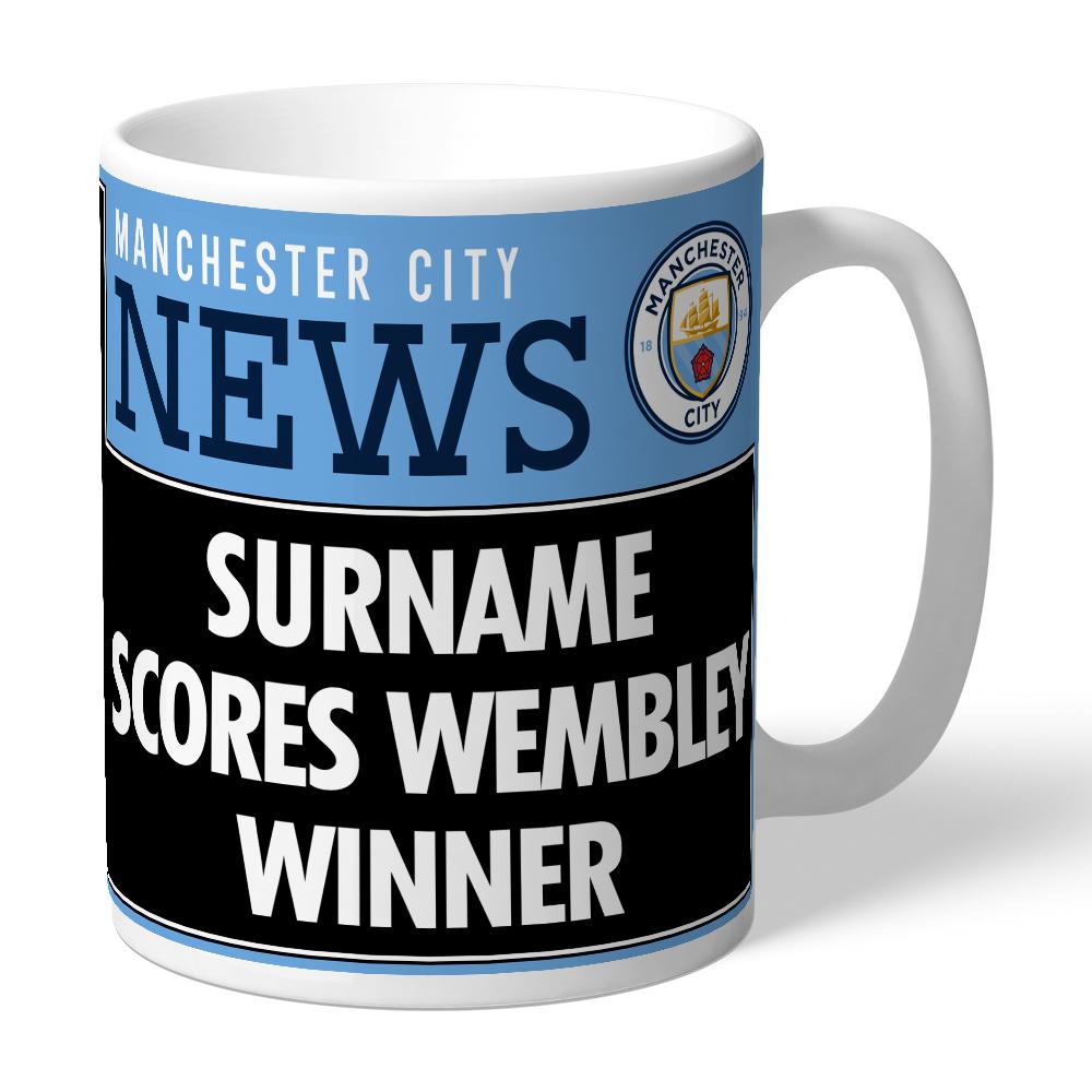 Manchester City FC Cup Final Headline Mug
