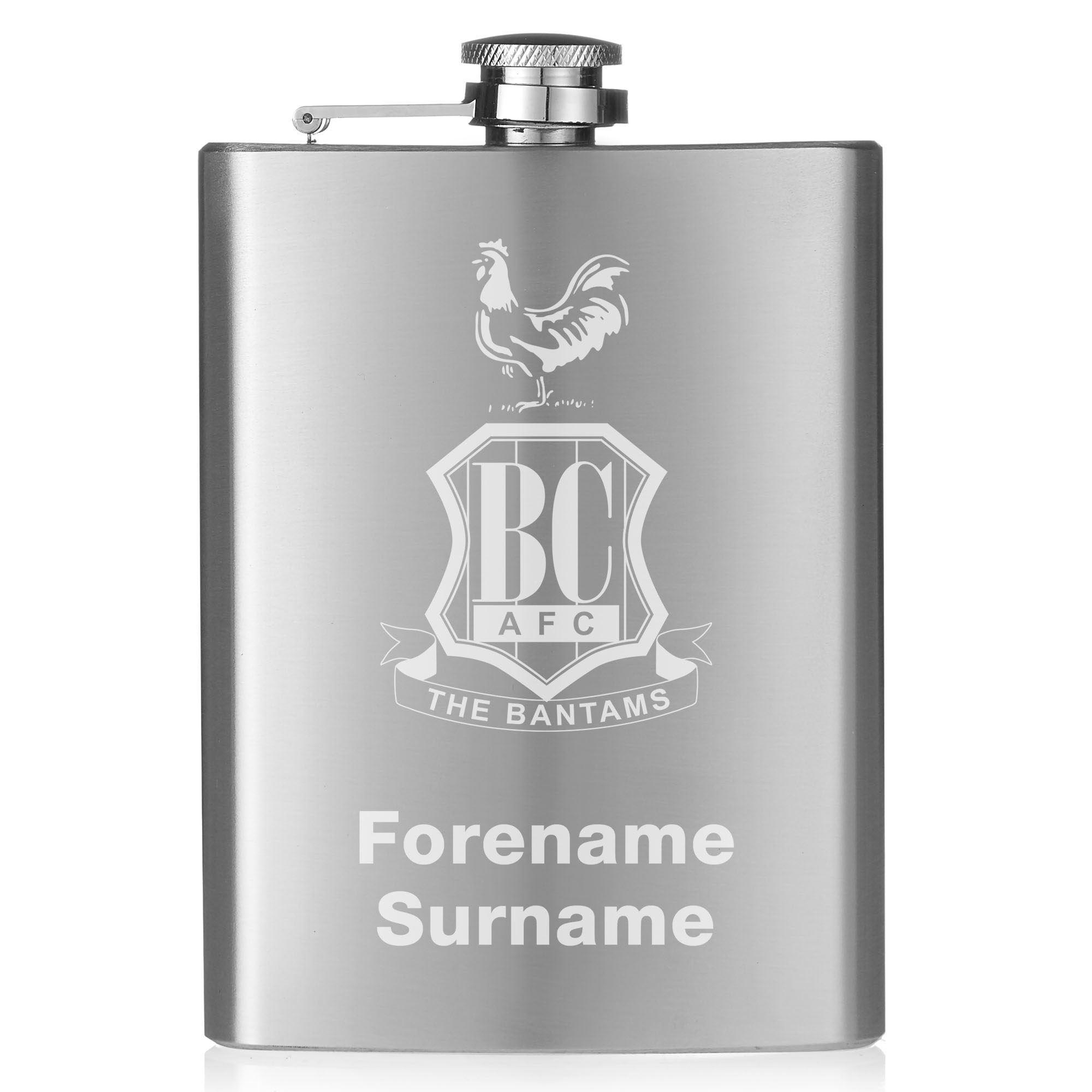Bradford City AFC Crest Hip Flask