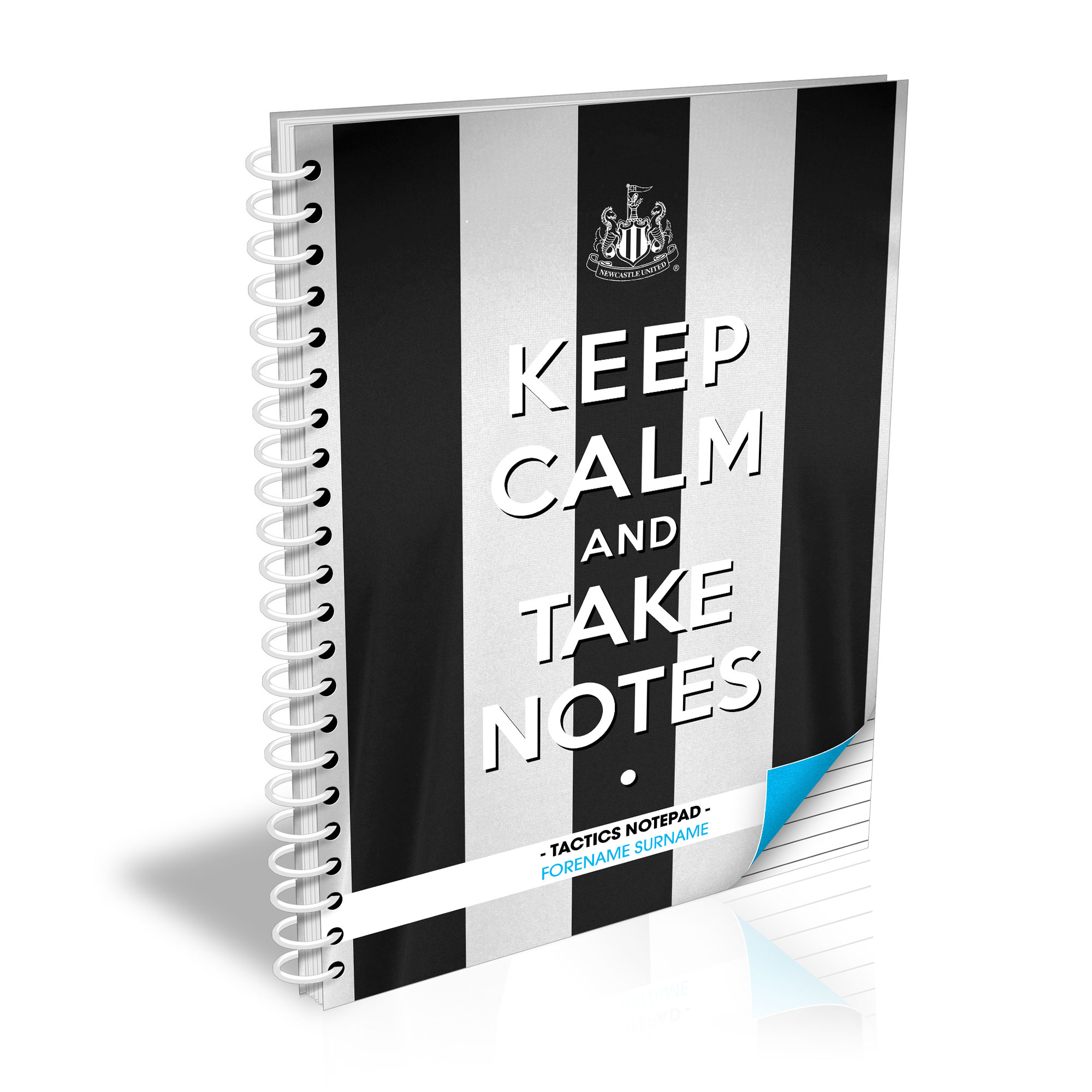 Newcastle United FC Keep Calm Notebook