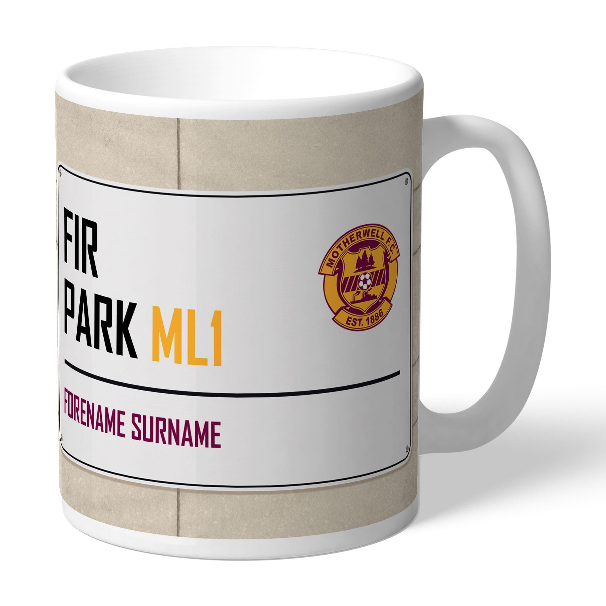 Motherwell FC Street Sign Mug
