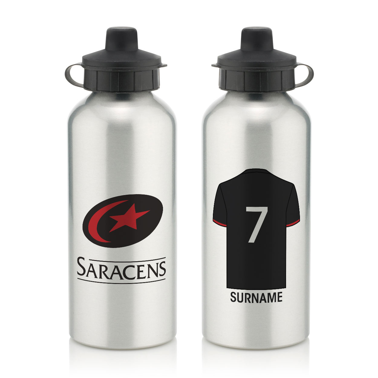 Saracens Aluminium Water Bottle