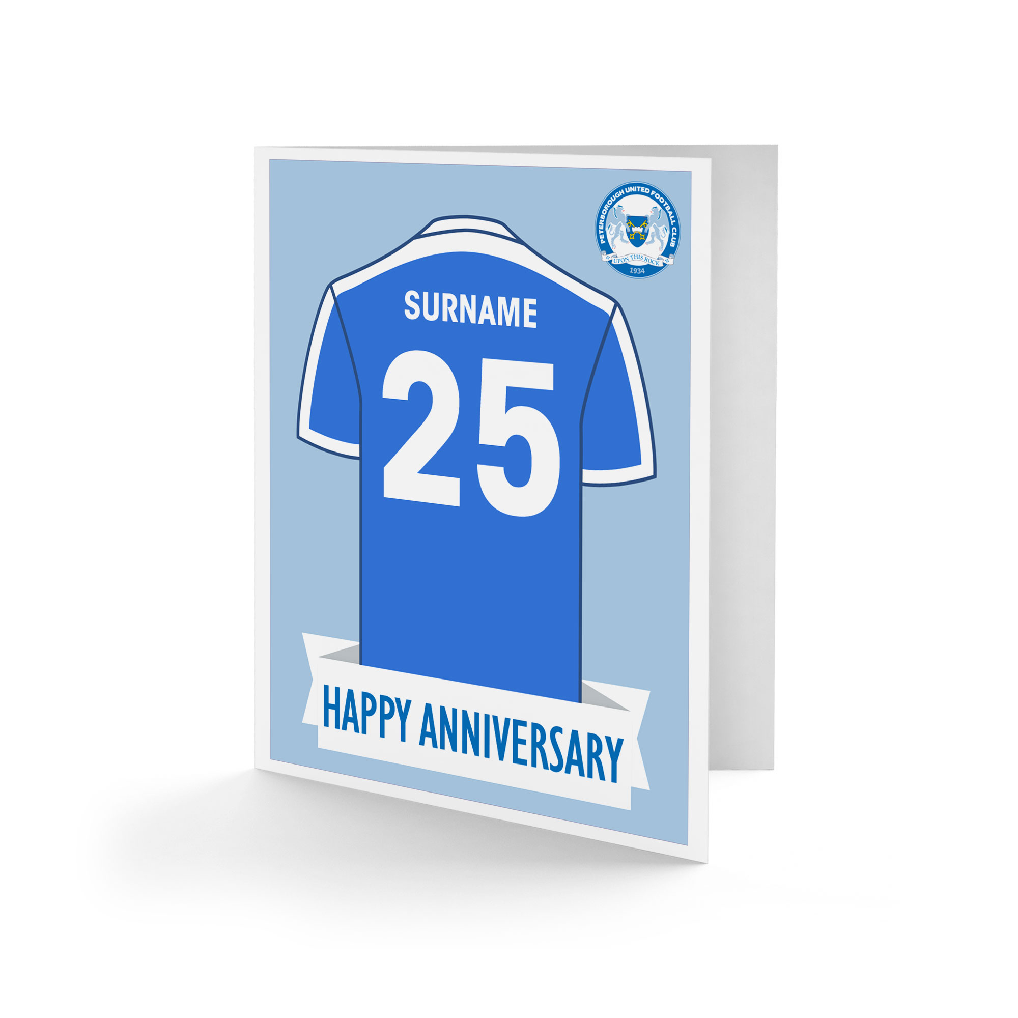 Peterborough United FC Shirt Anniversary Card