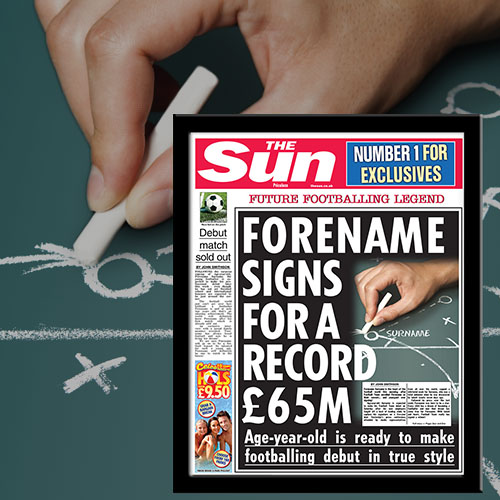 The Sun Youngest Signing News Single Page Print - Male