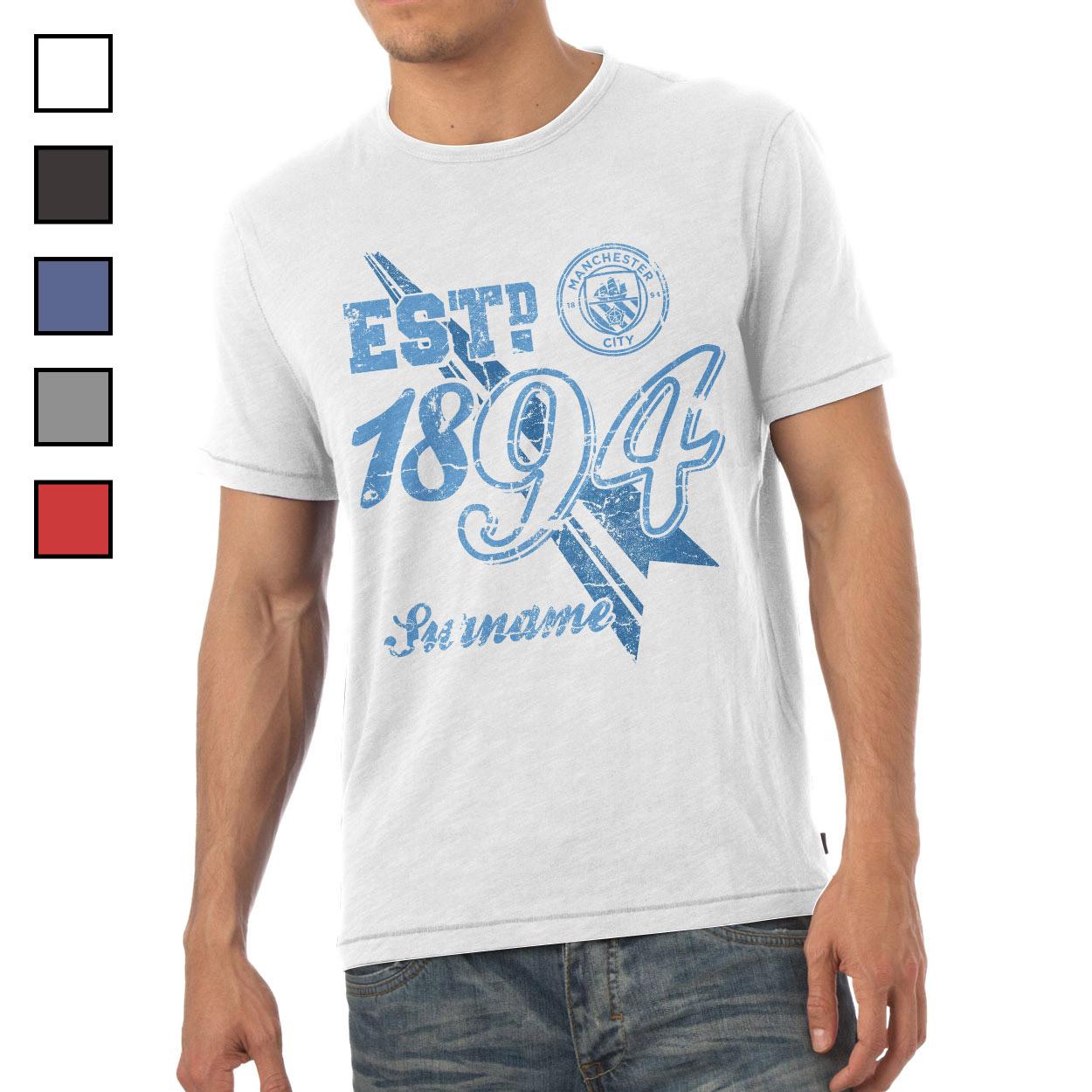 Manchester City FC Mens Established T-Shirt